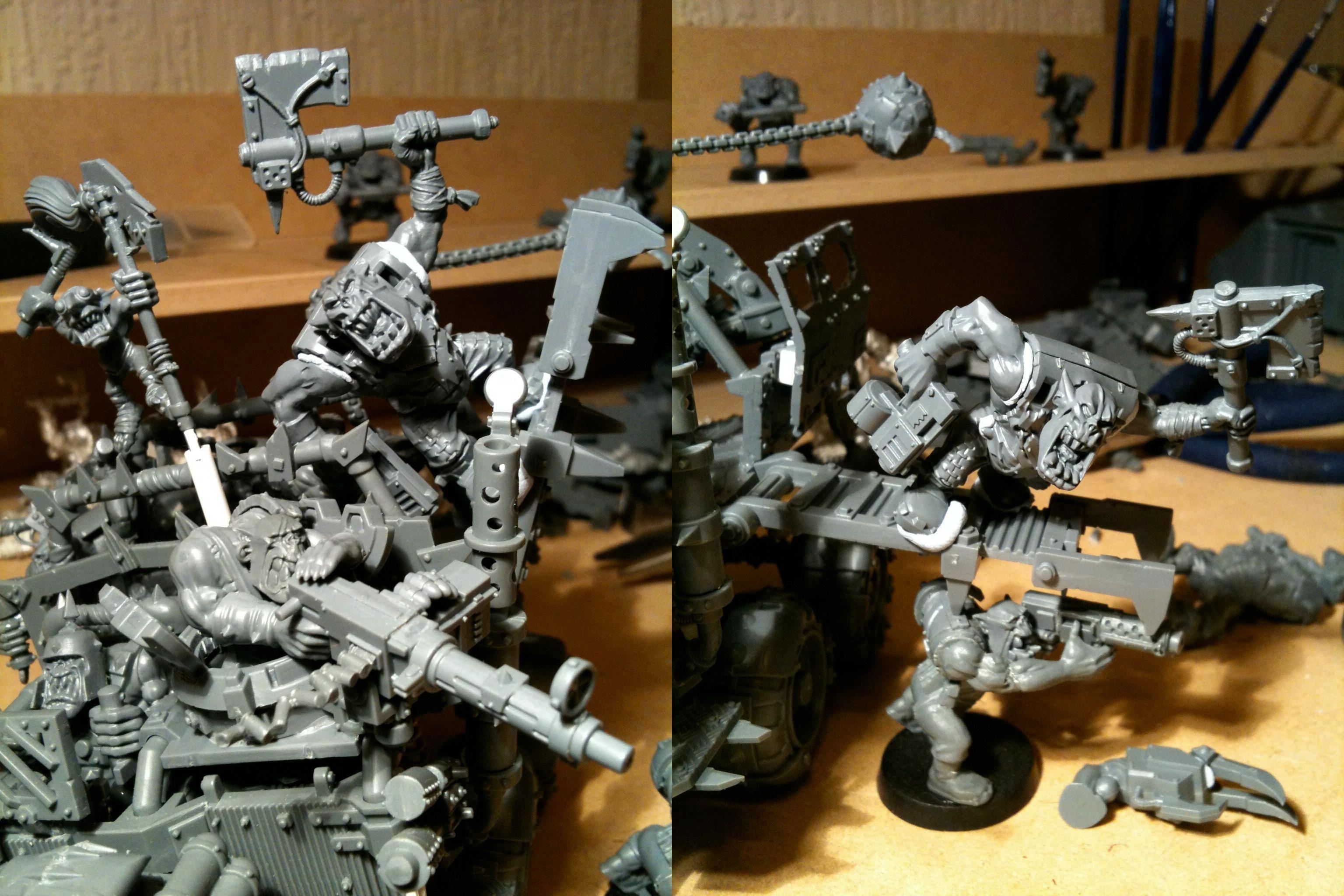 Da Dark Angelz, Nob, Orks, Trukk, Work In Progress