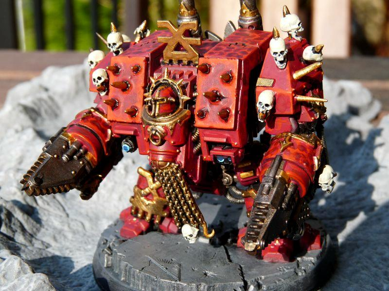 Chaos, Conversion, Dreadnought, Khorne, Skull, Space. Marines, Warhammer 40,000