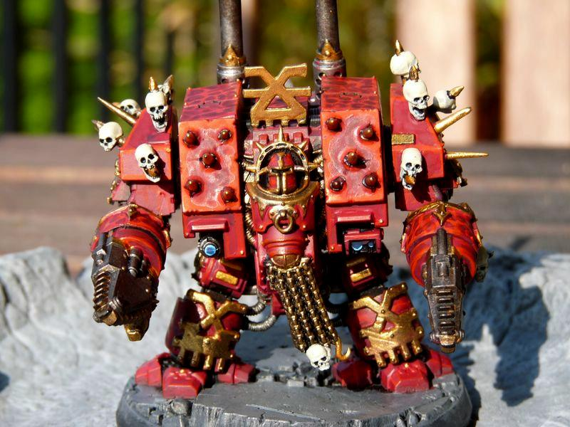 Chaos, Chaos Space Marines, Conversion, Dreadnought, Khorne, Warhammer 40,000