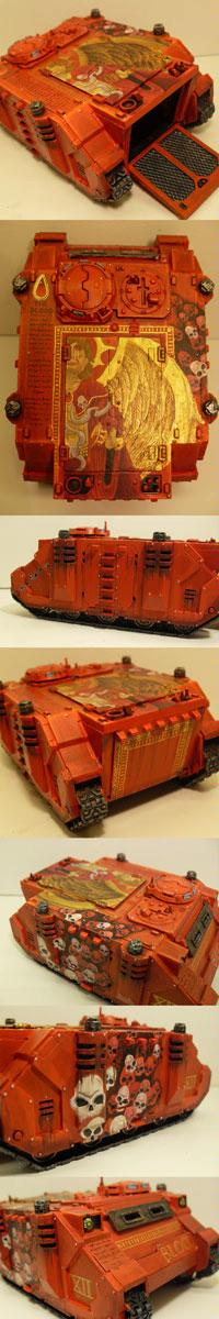 Blood Angels, Freehand, Rhino, Space Marines