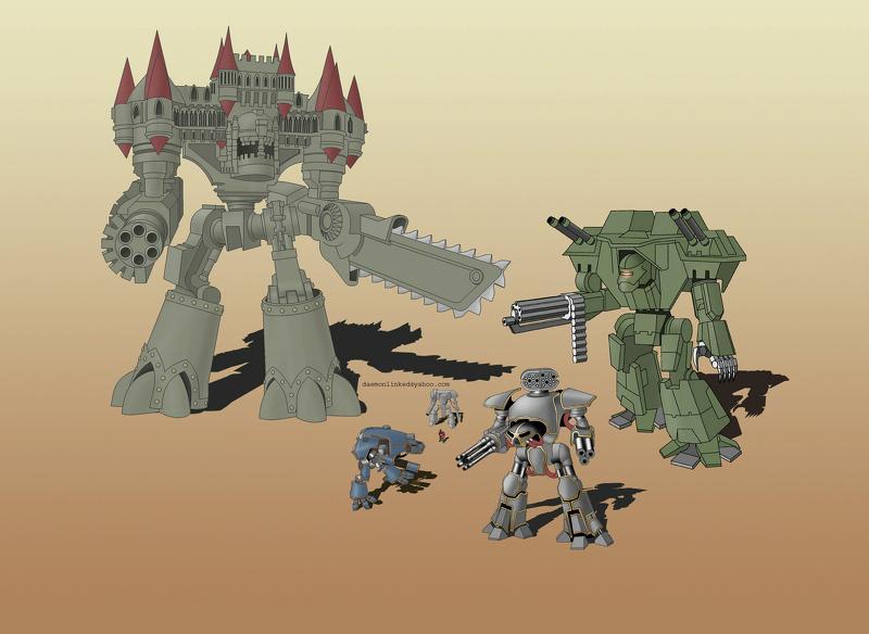 Imperiator, Knights, Reaver, Scale, Titan, Warhound, Warlord