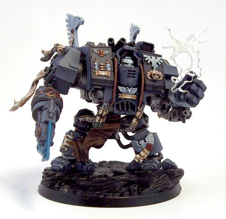 Conversion, Dreadnought, Librarian, Scriptor, Space Marines, Warhammer 40,000