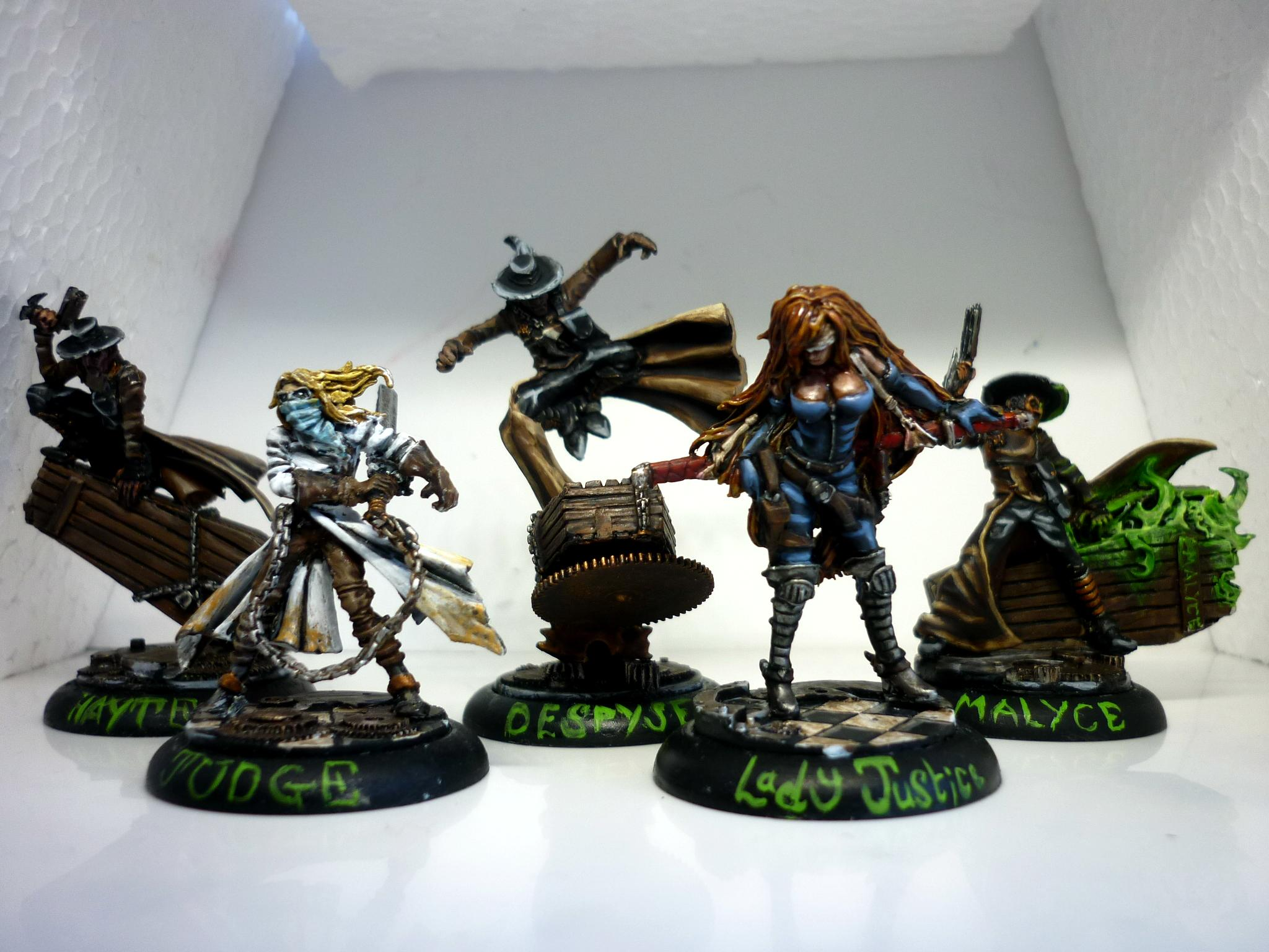 Construct, Death, Flesh, Guild, Judge, Justice, Lady, Malifaux, Marshall, Mcmourning, Miniatures, Nurse, Sebastian, Wyrd