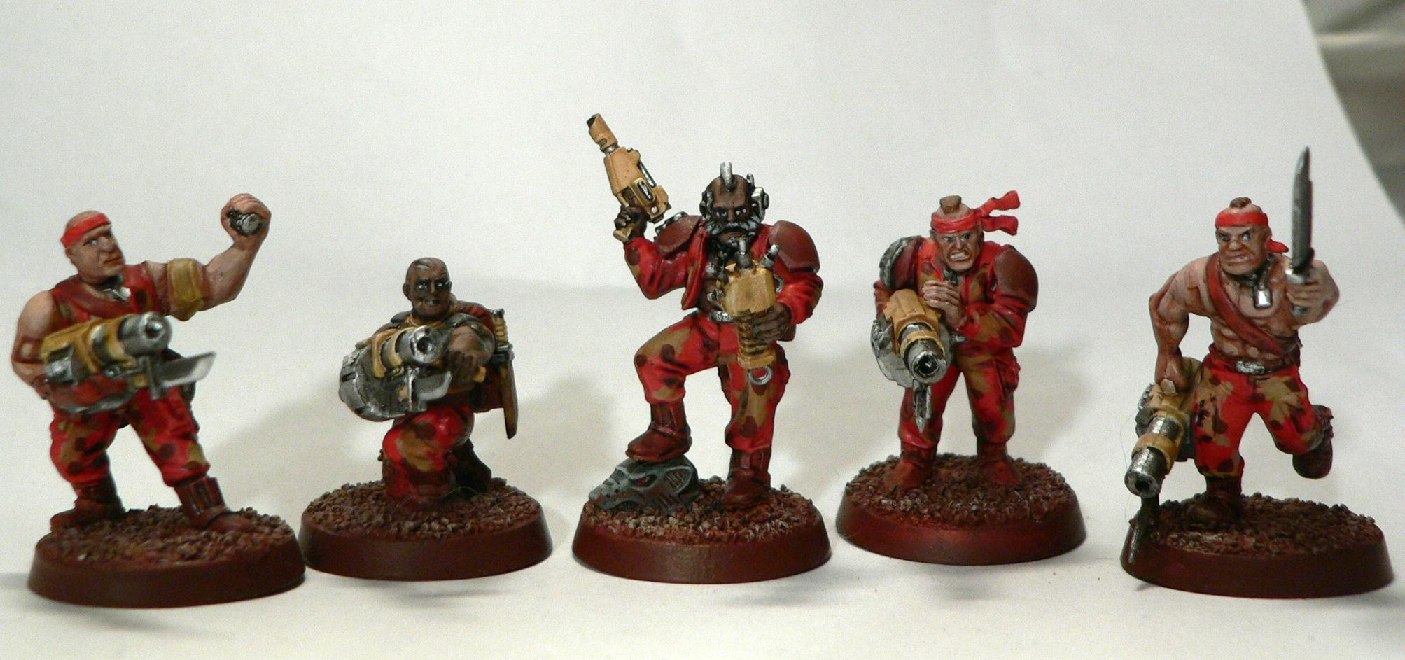 Catachan, Command Squad, Grenade Launcher, Imperial Guard, Mars, Martian, Warhammer 40,000