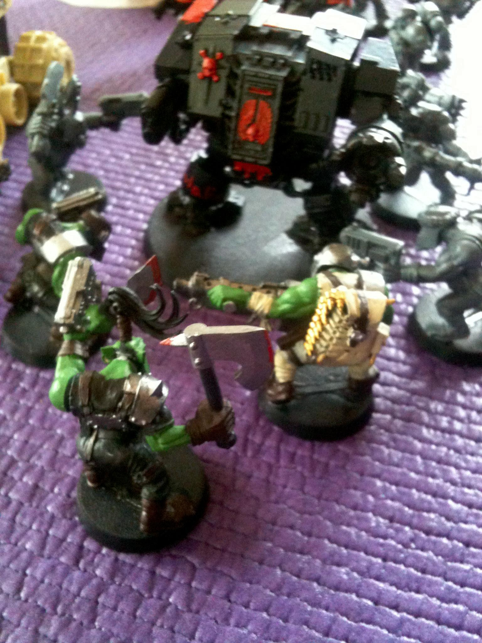 Battle, Boy, Dreadnought, Orks, Space, Space Marines, Warhammer 40,000, Warhammer Fantasy