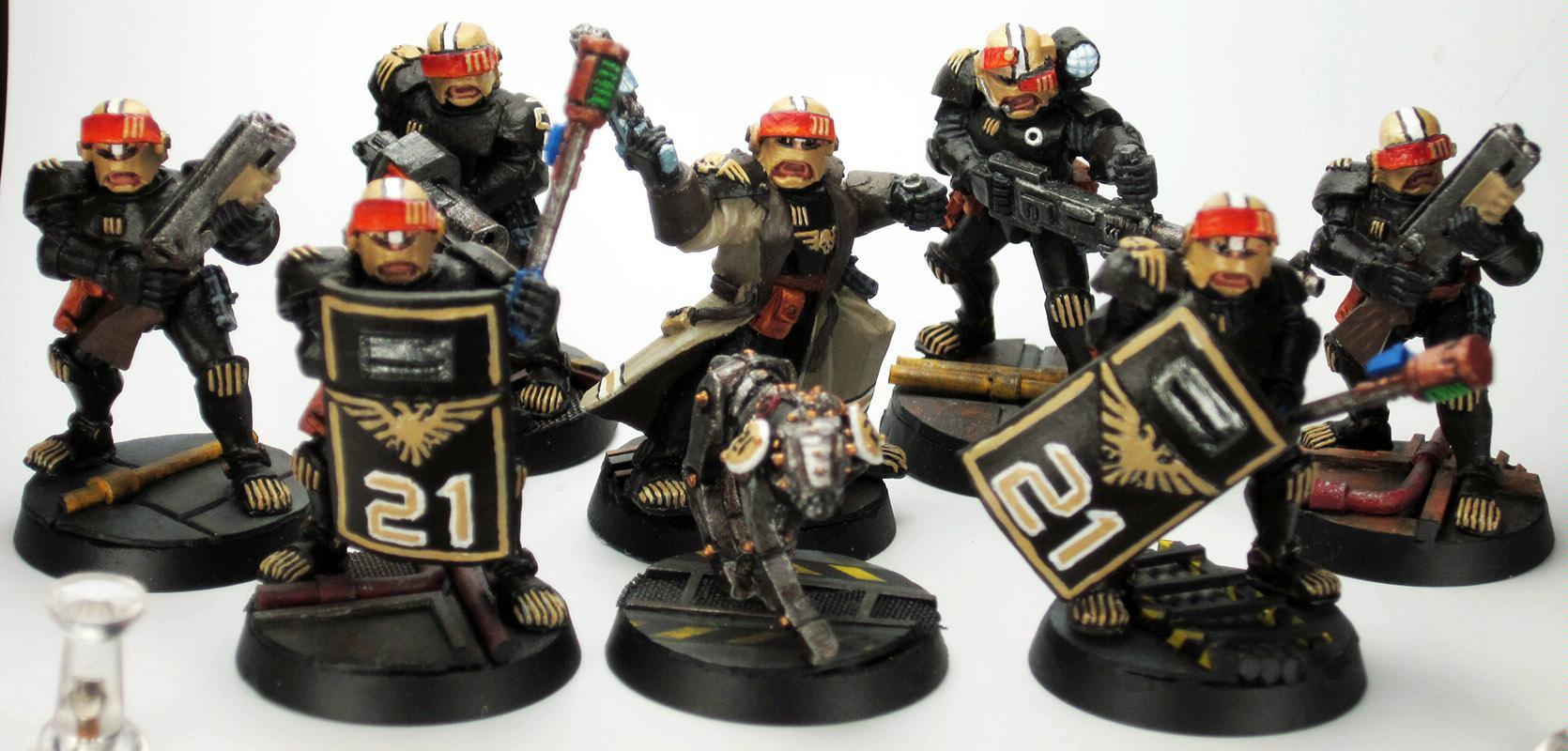 Adeptus Arbites, Enforcer, Games Workshop, Gang, Necromunda