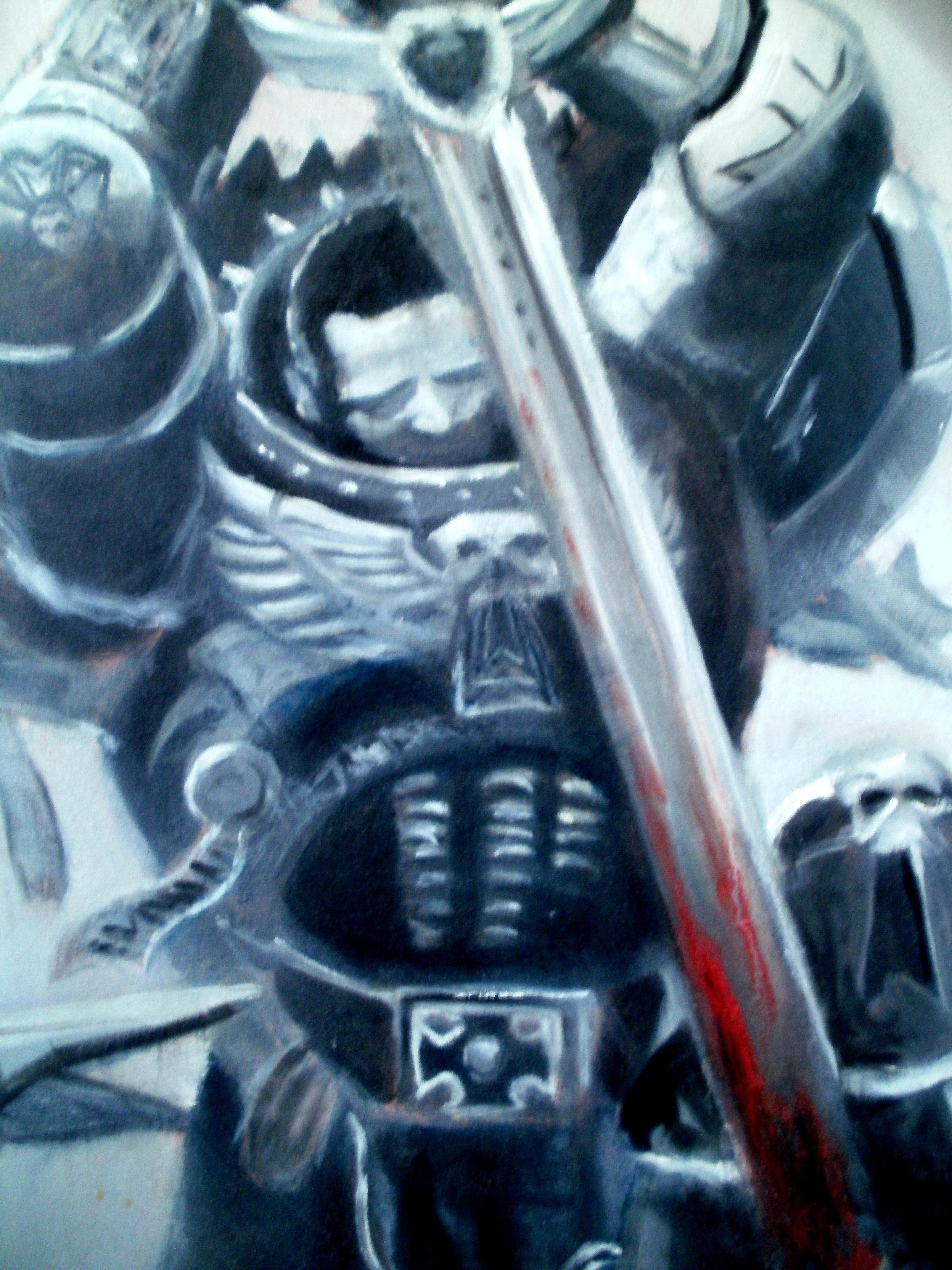 Black Templars, Emperor's Champion, Oil, Painting