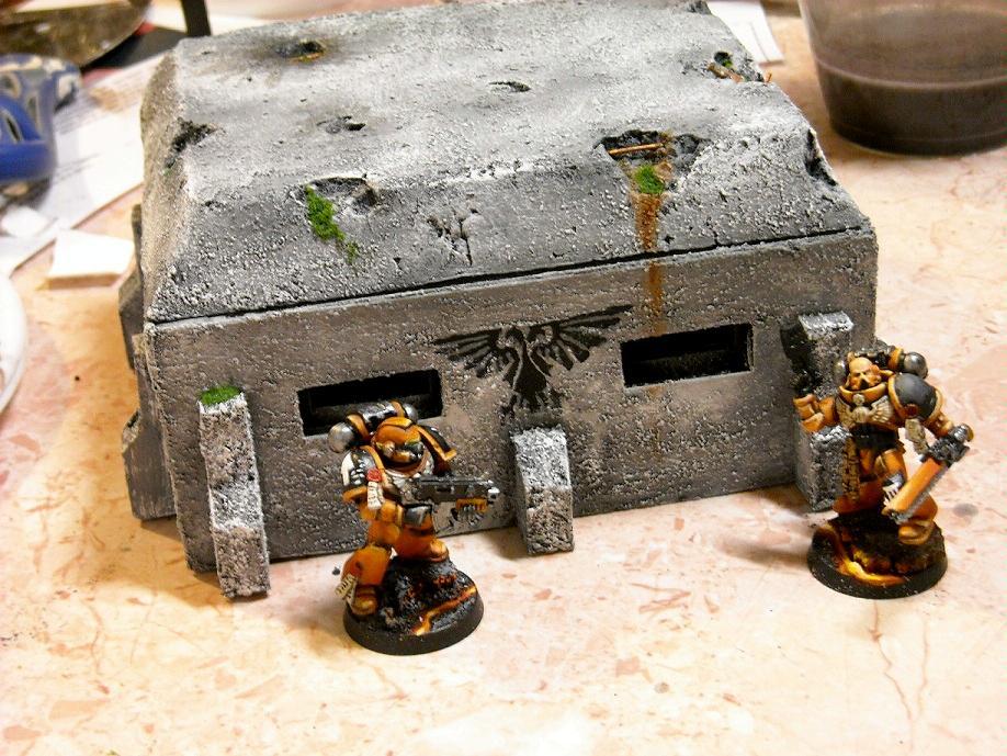 Bunker, Space Marines, Terrain, Warhammer 40,000