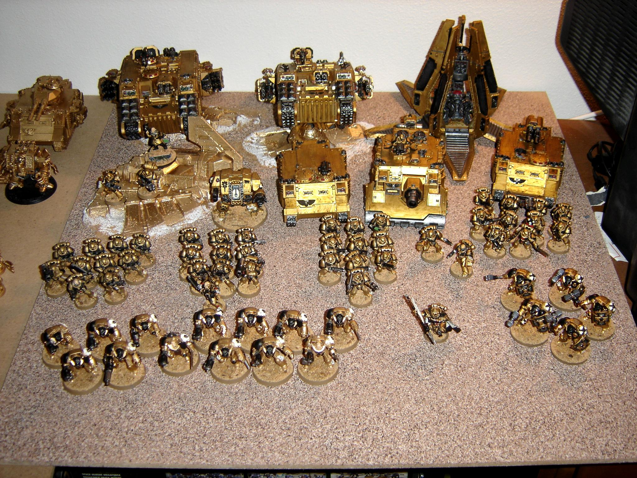 Army, Gold, Space Marines, Warhammer 40,000