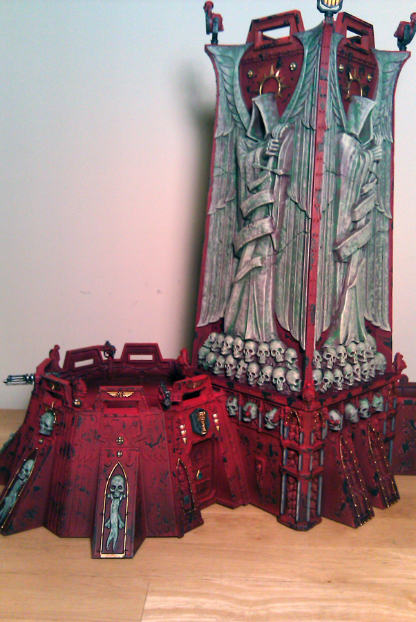 Dark Angels, Fortress, Red Marble, Space Marines