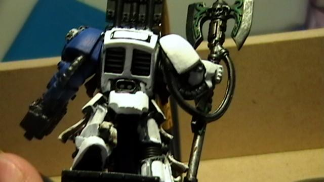 Back, Librarian, Space Marines, Terminator Armor, Warhammer 40,000