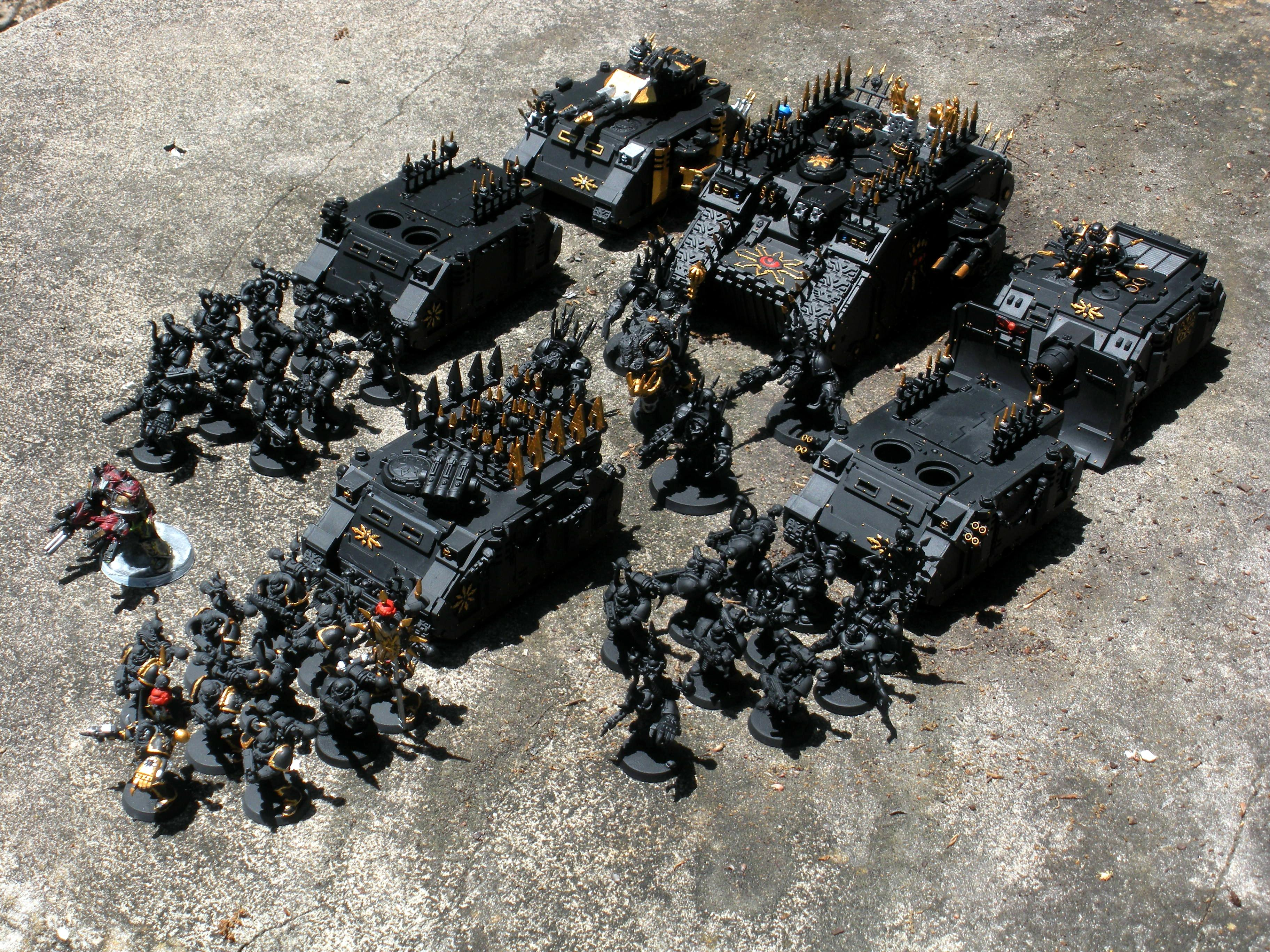 Army, Base Coat, Black Legion, Chaos Space Marines, Primered