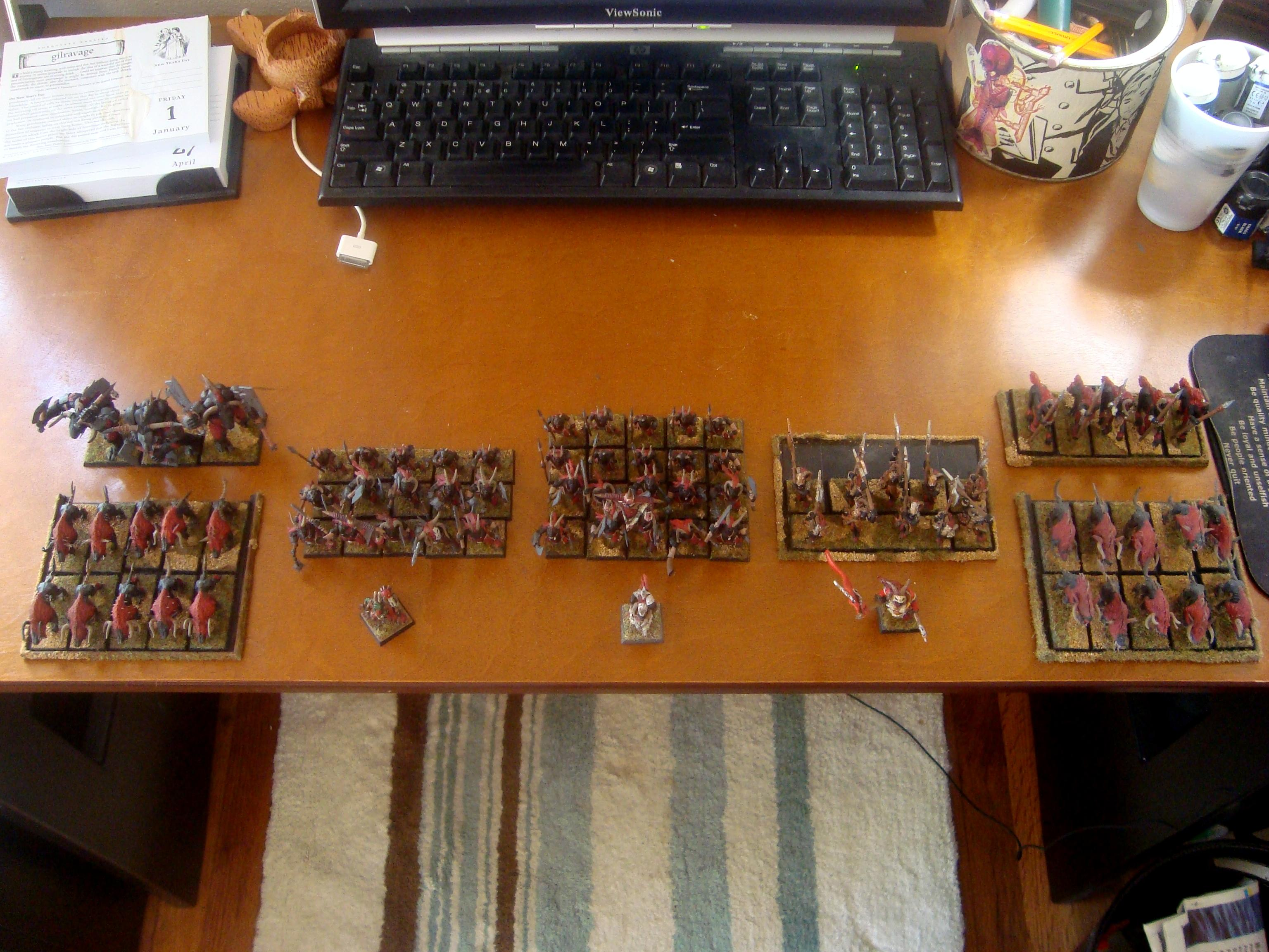 Beastmen, Whole army overhead