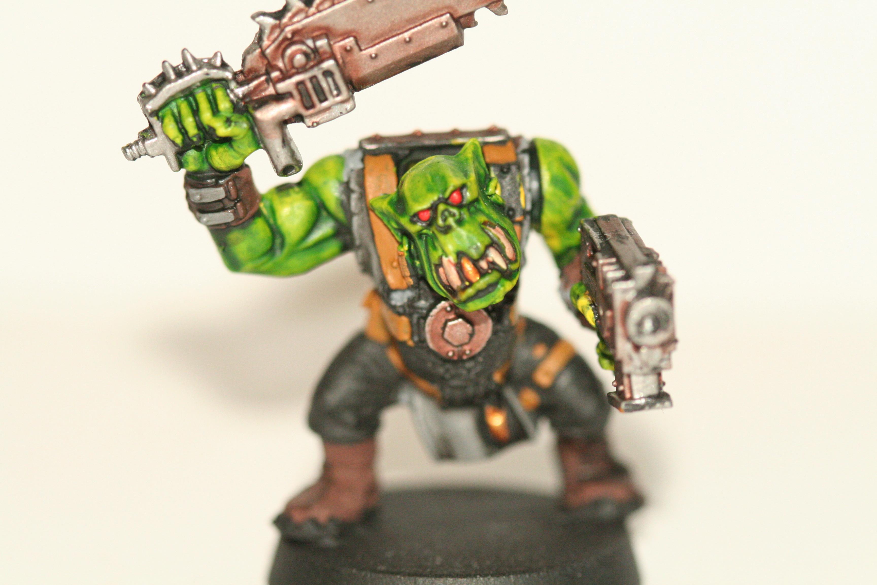 Ink Wash, Orks, Slugga Boy, Warhammer 40,000