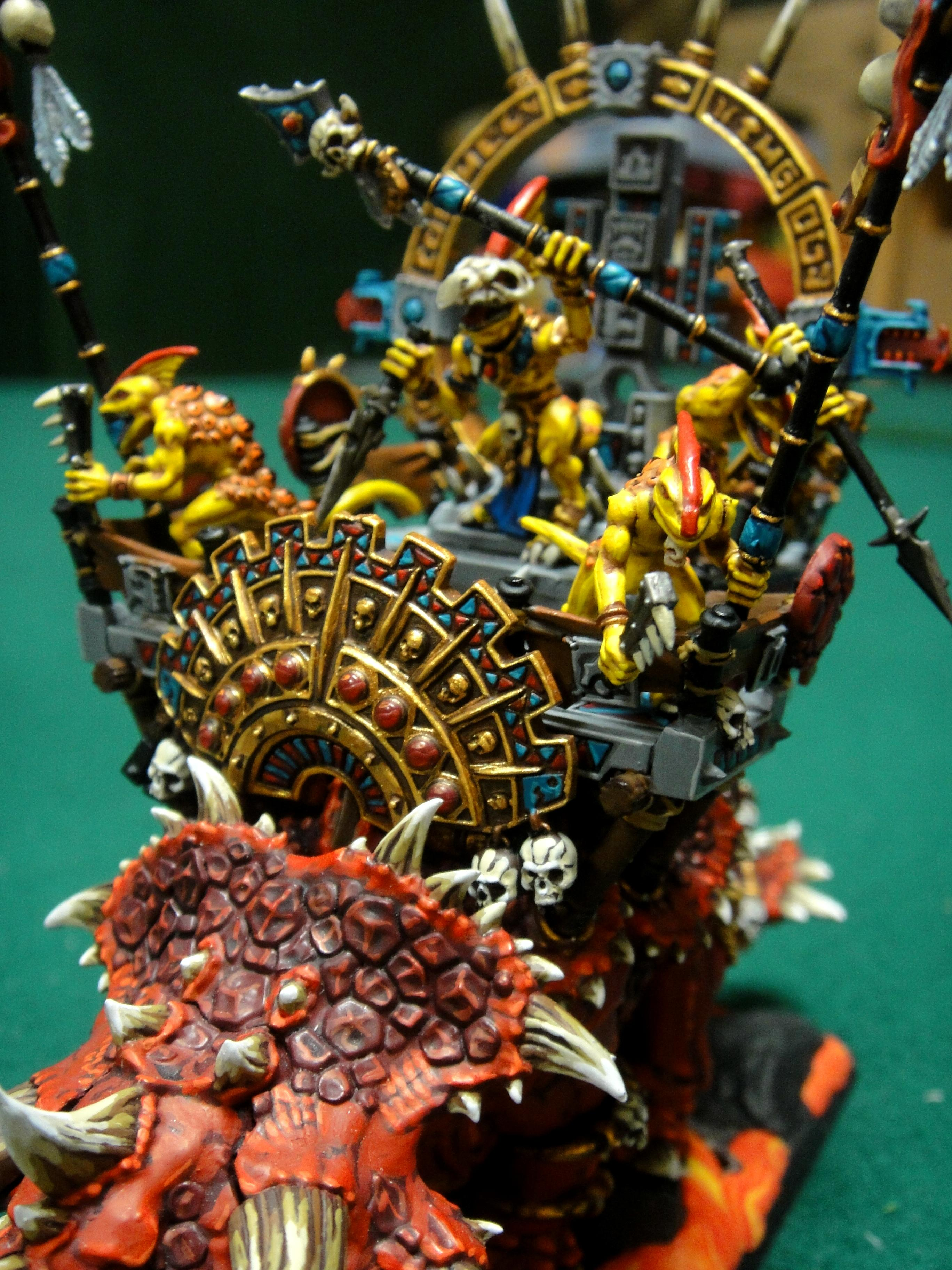 Awesome, Engine Of The Gods, Lizardmen, Skinks, Warhammer Fantasy