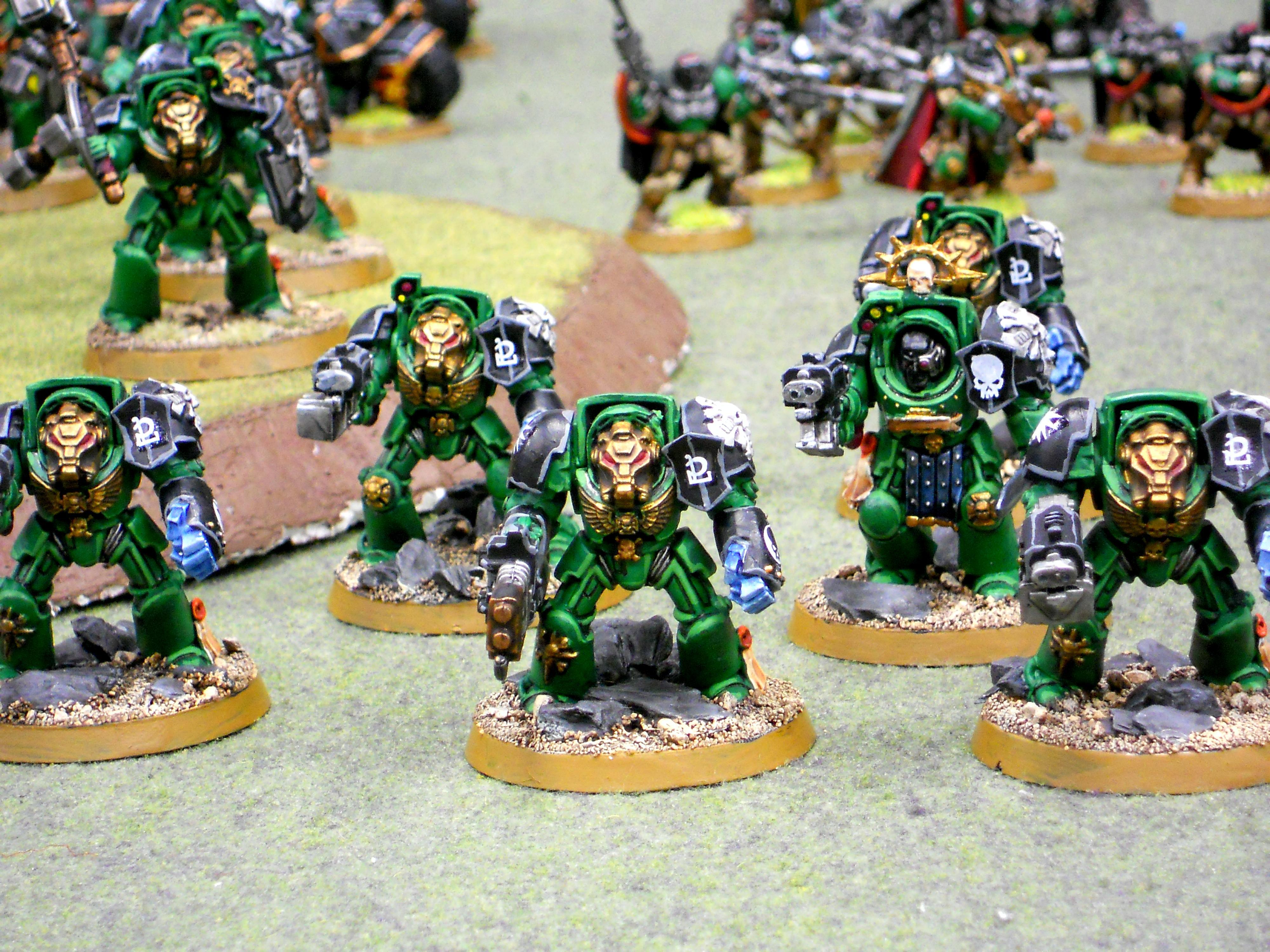 Power Fist, Salamanders, Space Marines, Terminator Armor