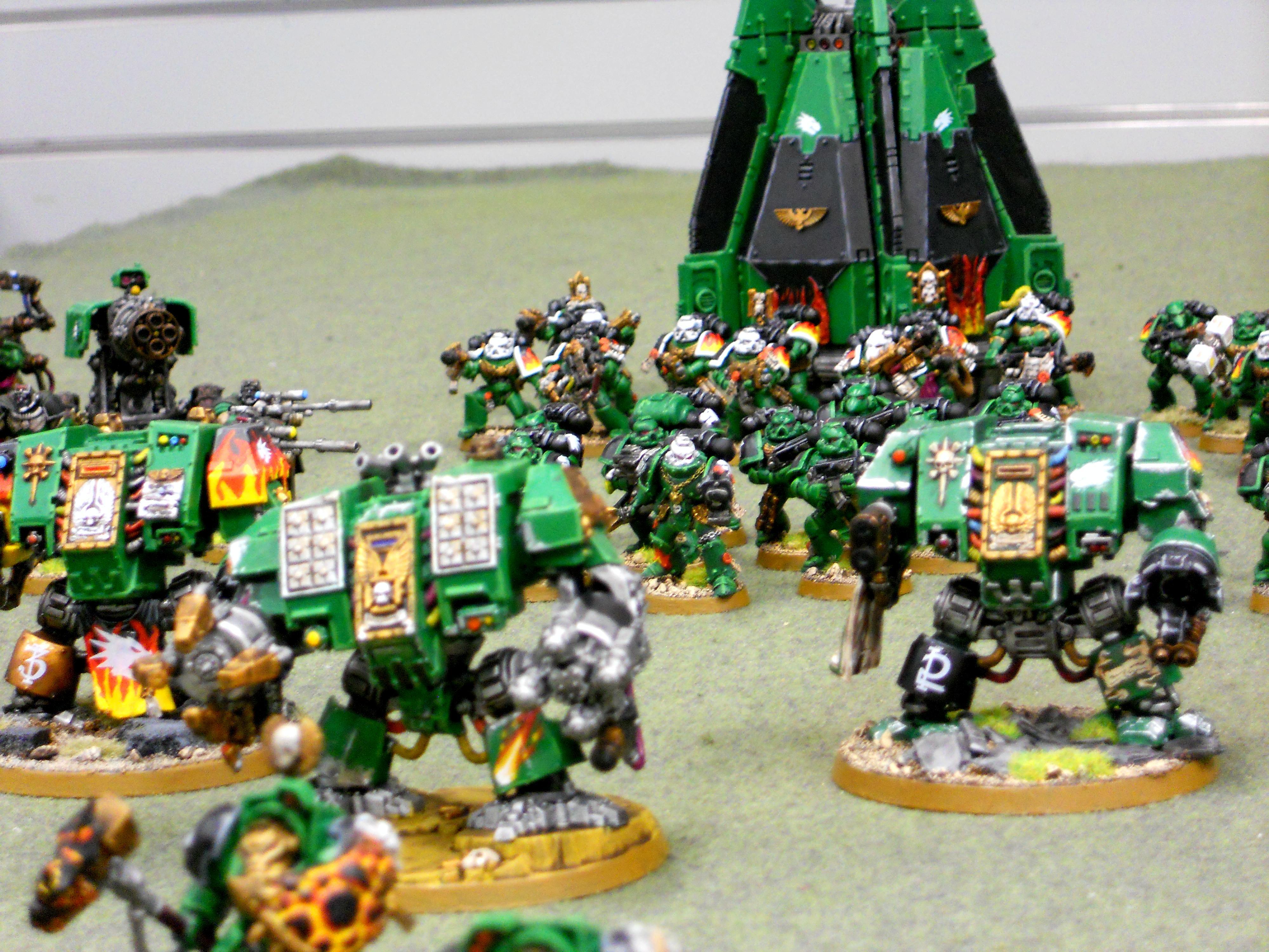 Salamanders, Space Marines, Terminator Armor, Vulkan, Warhammer 40,000