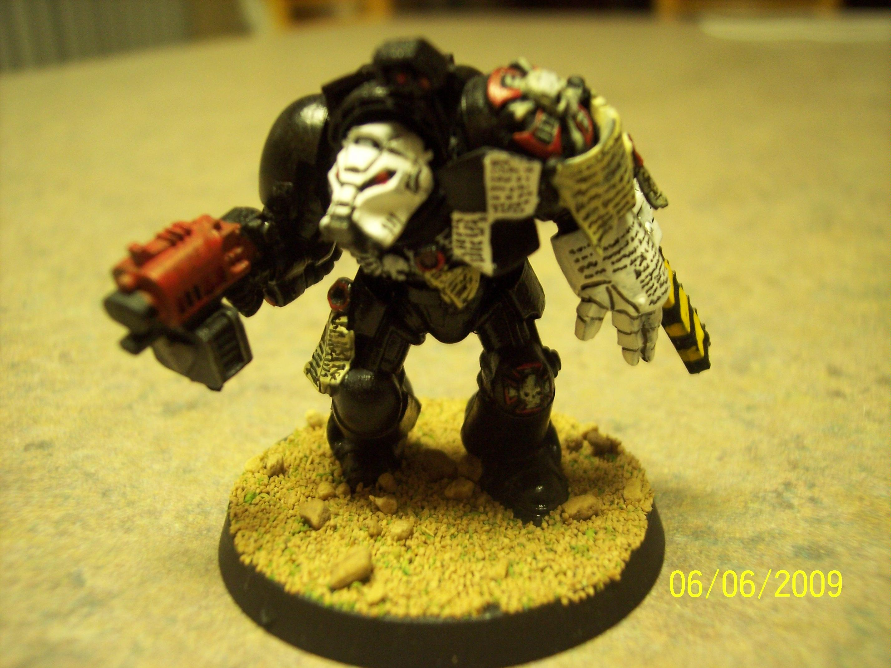 Black, Space, Space Marines, Templars, Terminator Armor, Warhammer 40,000