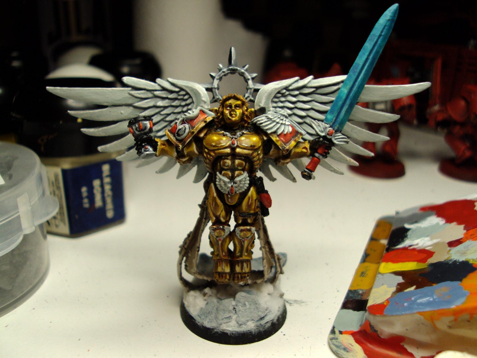 Blood Angels, Gold, Non-Metallic Metal, Sanguinor, Space Marines, Warhammer 40,000