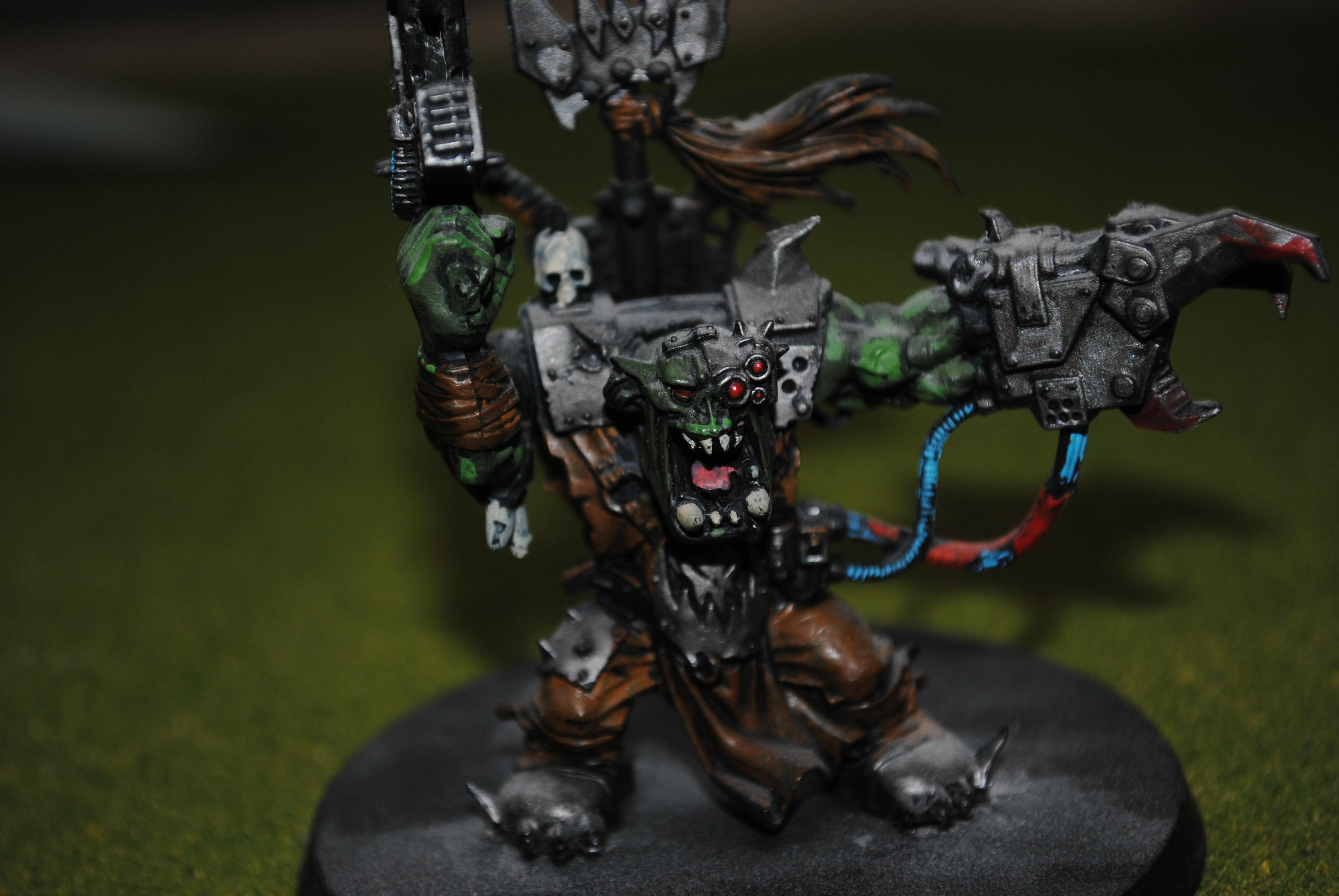 The warboss that needs repainting, and a name