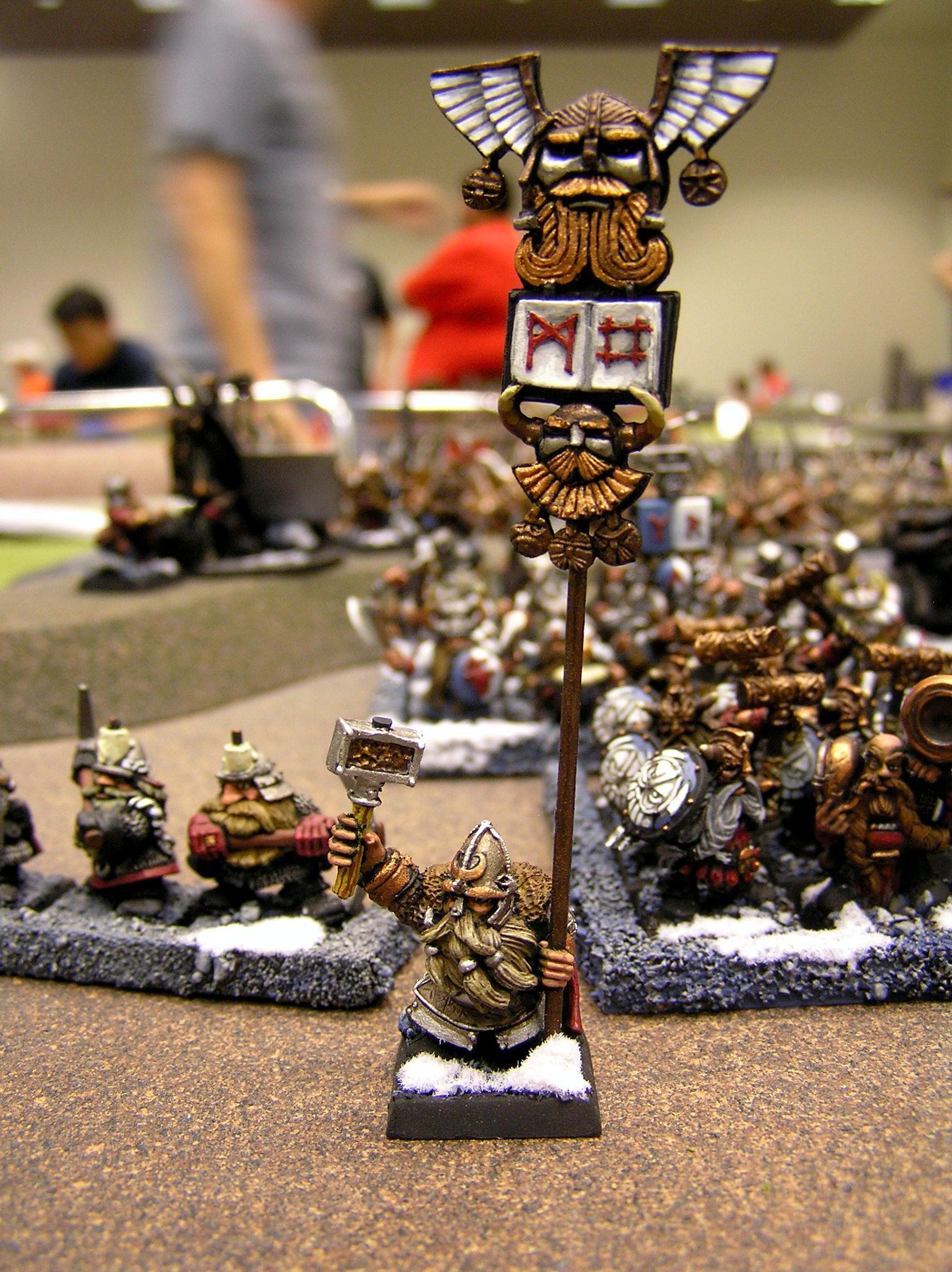 Dwarves, Snow, Standard, Warhammer Fantasy, Wfb