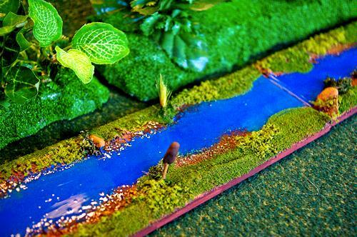 Flock, Plants, River, Terrain, Water. Liquid