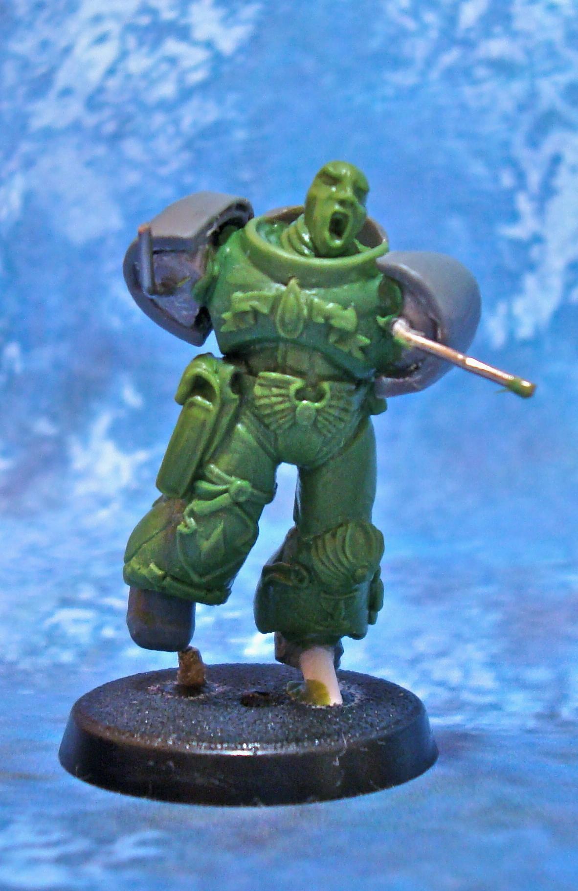 Cnversion, Greenstuff, Sculpting, Space Marines