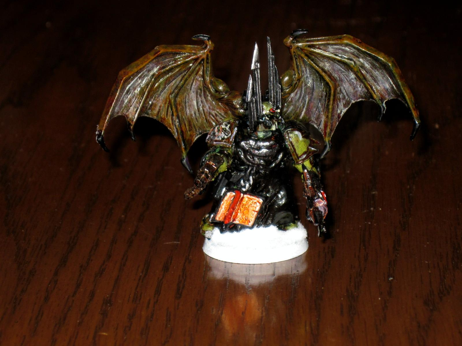 Chaos, Nurgle, Sorcerer, Space, Space Marines, Winged