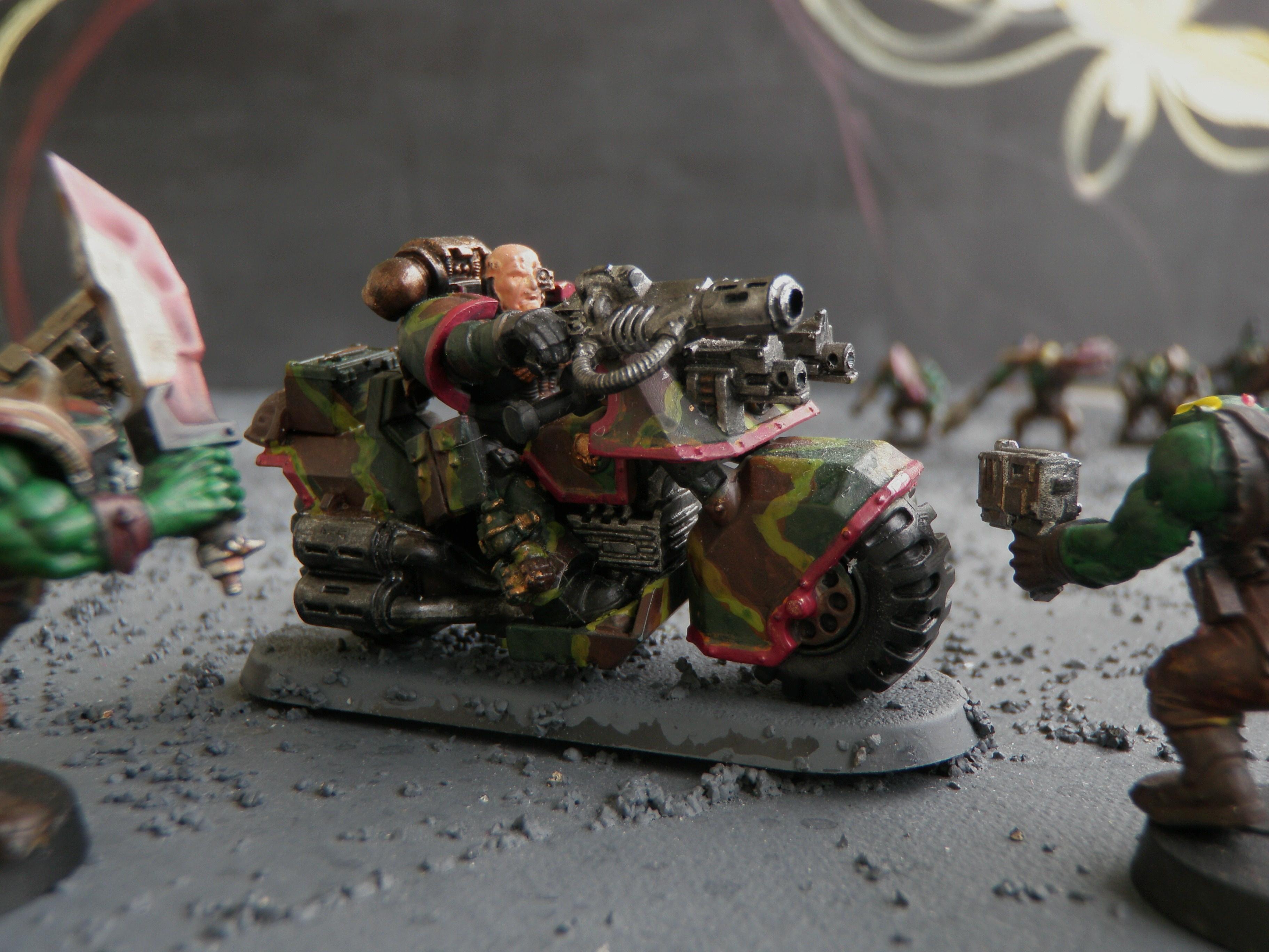 Bike, Camouflage, Grenades, Meltagun, Space Marines