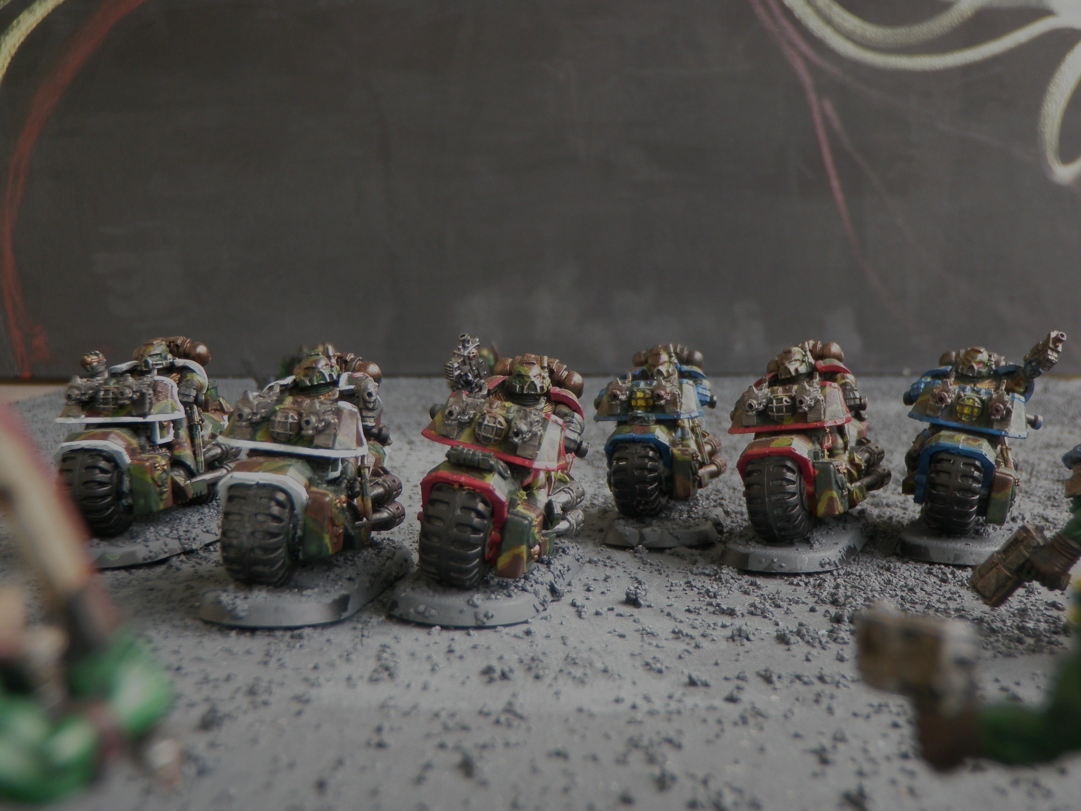Bike, Bolt Pistols, Camouflage, Space Marines