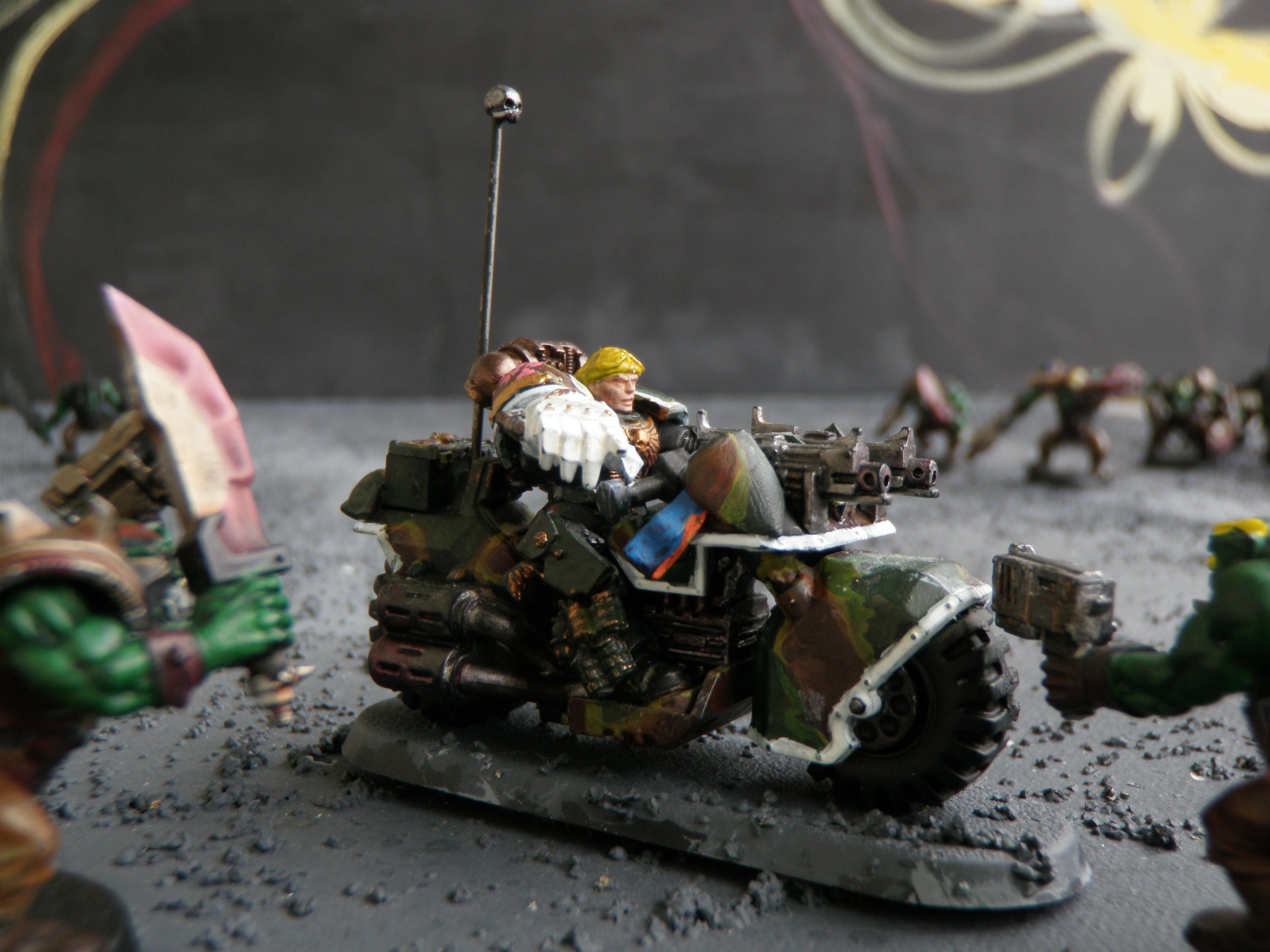 Bike, Camouflage, Space Marines
