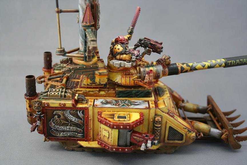 Custom, Space Marines, Tank, Vehicle, Yellow