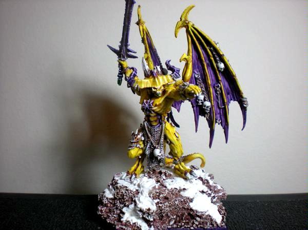 Chaos Daemons, Daemon Prince, Snow, Warhammer 40,000
