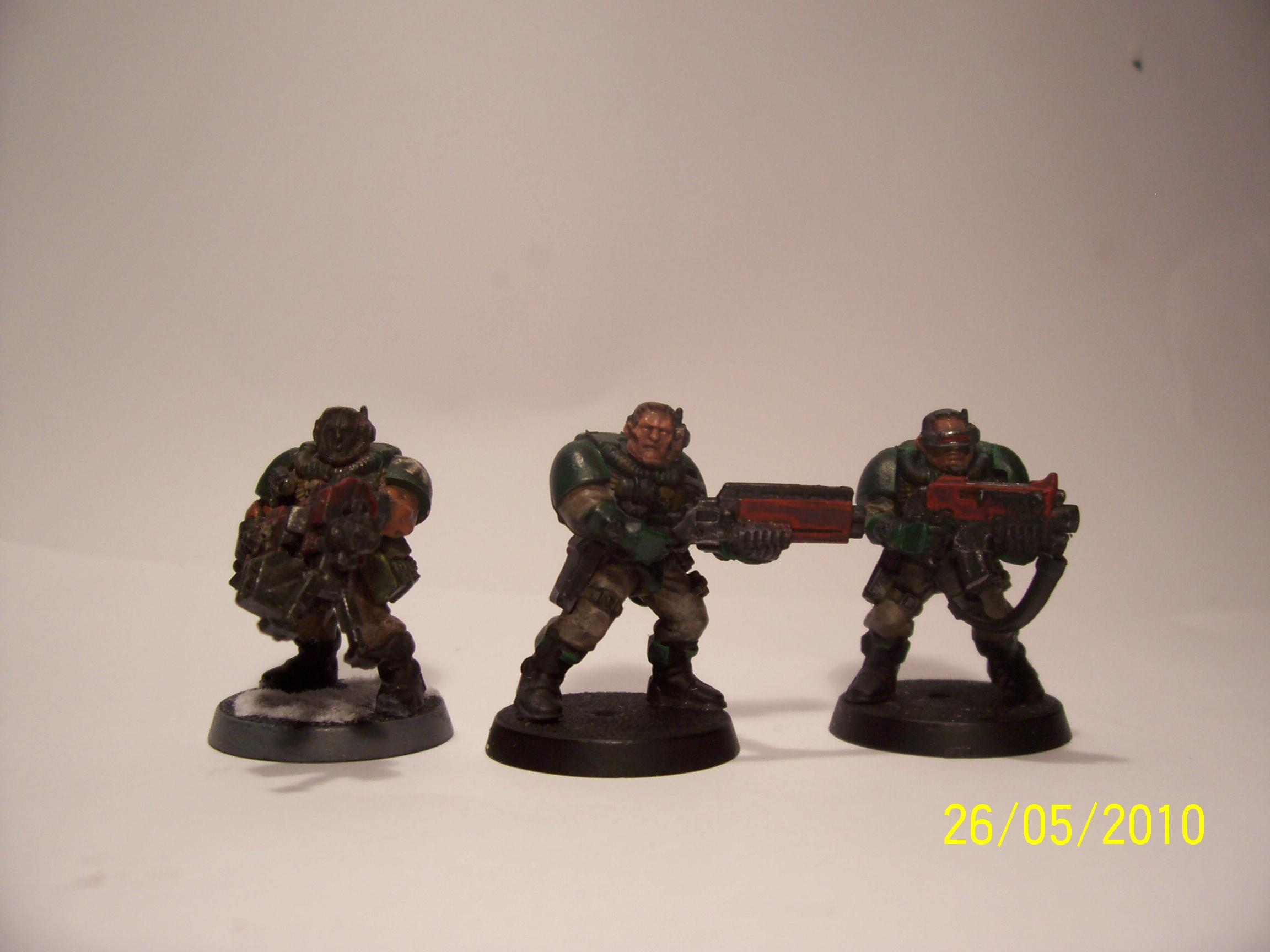 guy on left complete but head ruined. i am working on middle one
