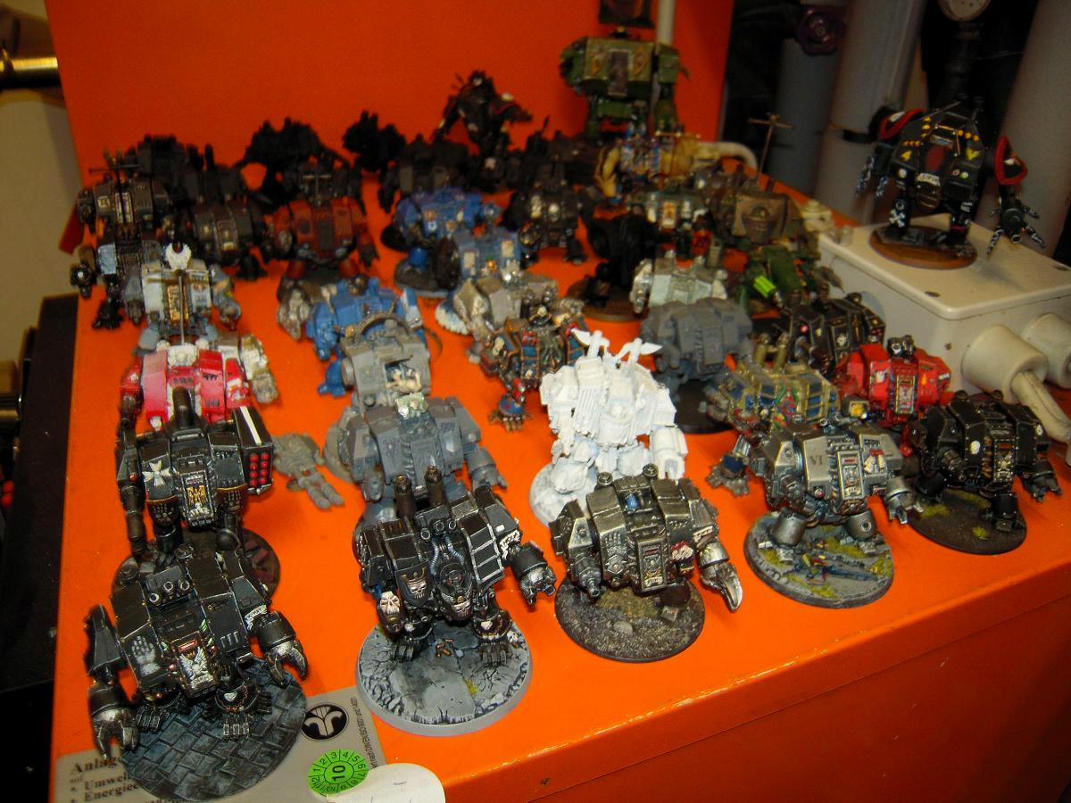 Chaos, Chaos Space Marines, Conversion, Dead, Dreadnought, Hellbrute, Metal, Painted, Scratch, Scratch Build, Senes Antiqua, Senex, Space Marines