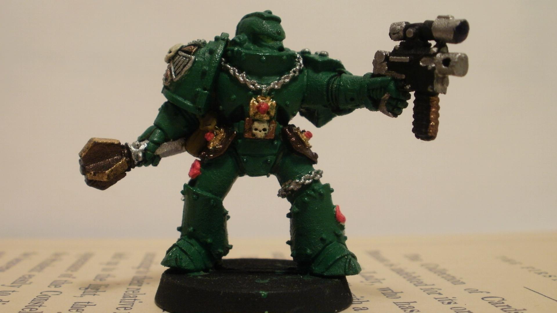 Green, Salamander, Space Marines, Veteran