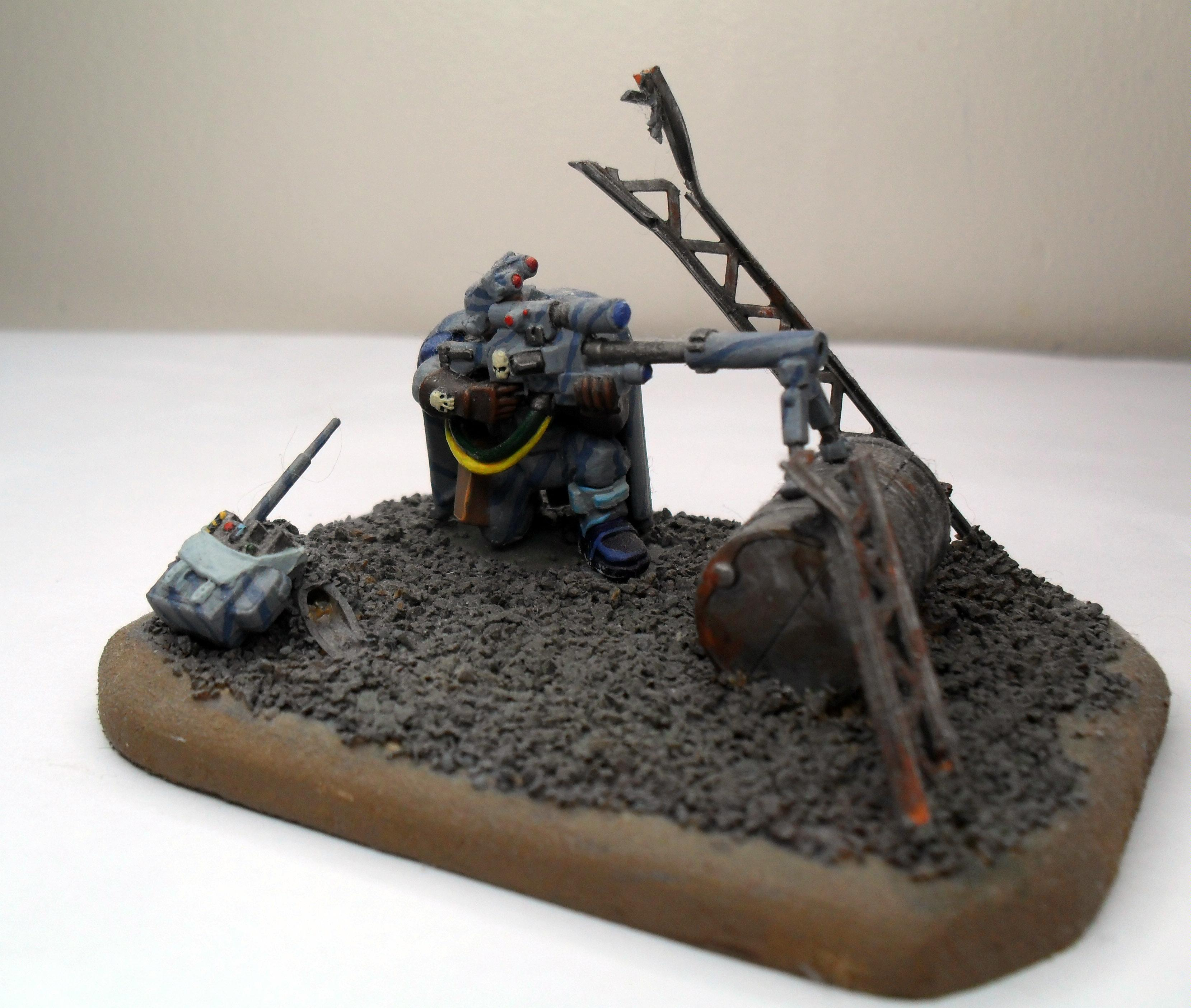 Diorama, Imperial, Scouts, Spacemarine, Warhammer 40,000