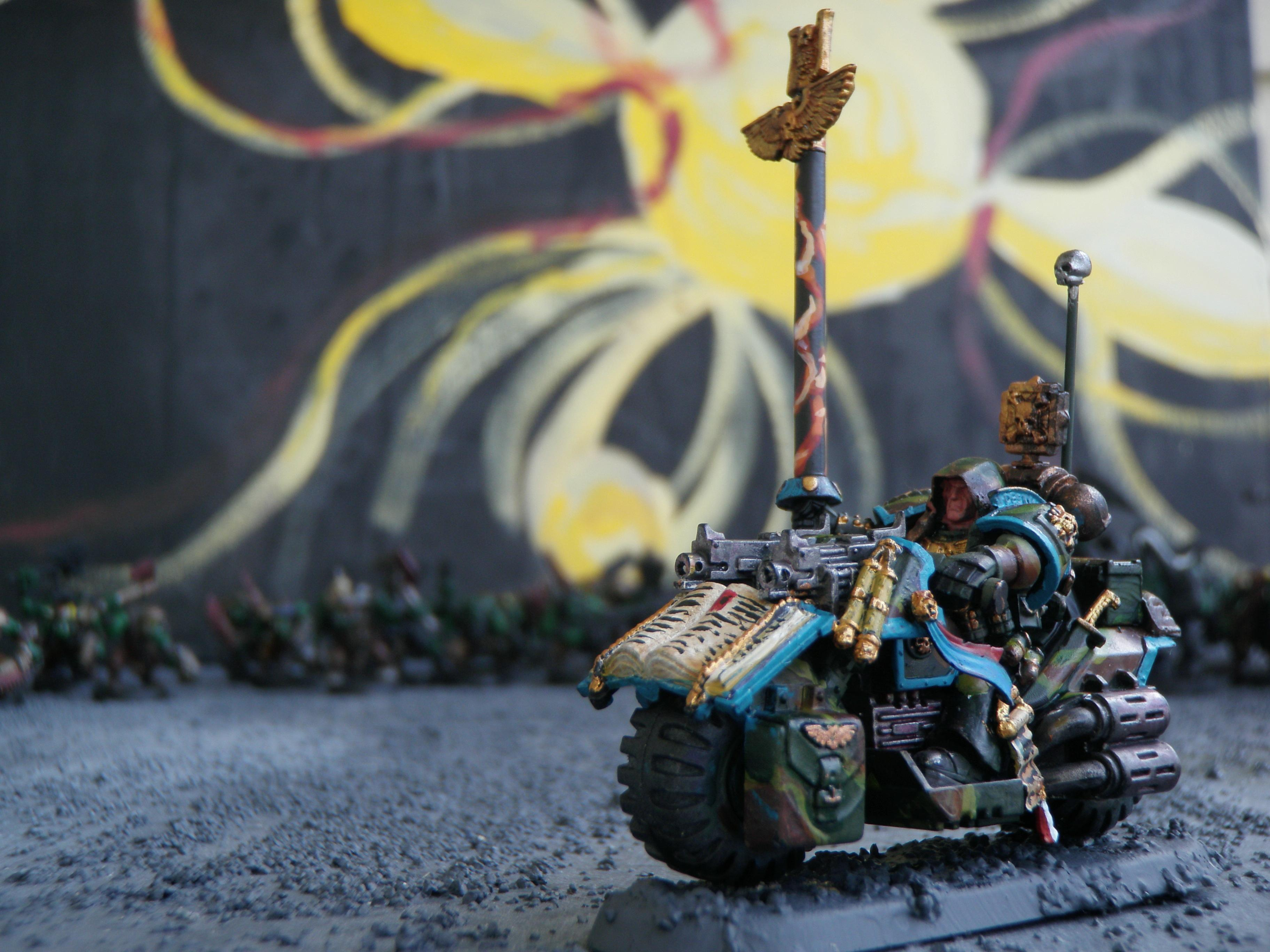 Bike, Camouflage, Force Weapon, Librarian, Psychic Hood, Space Marines