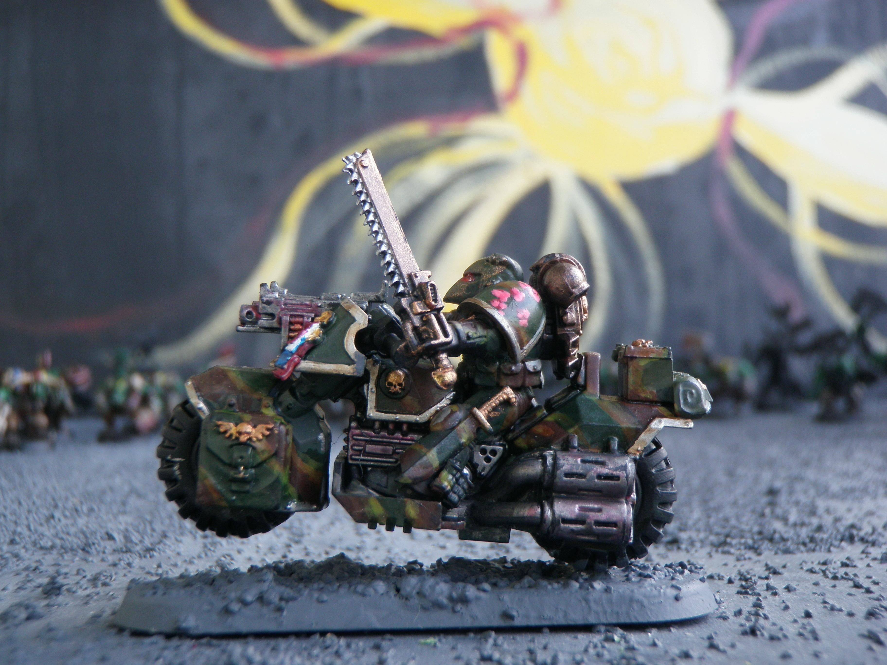 Bike, Camouflage, Chainsword, Command Squad, Space Marines, Veteran