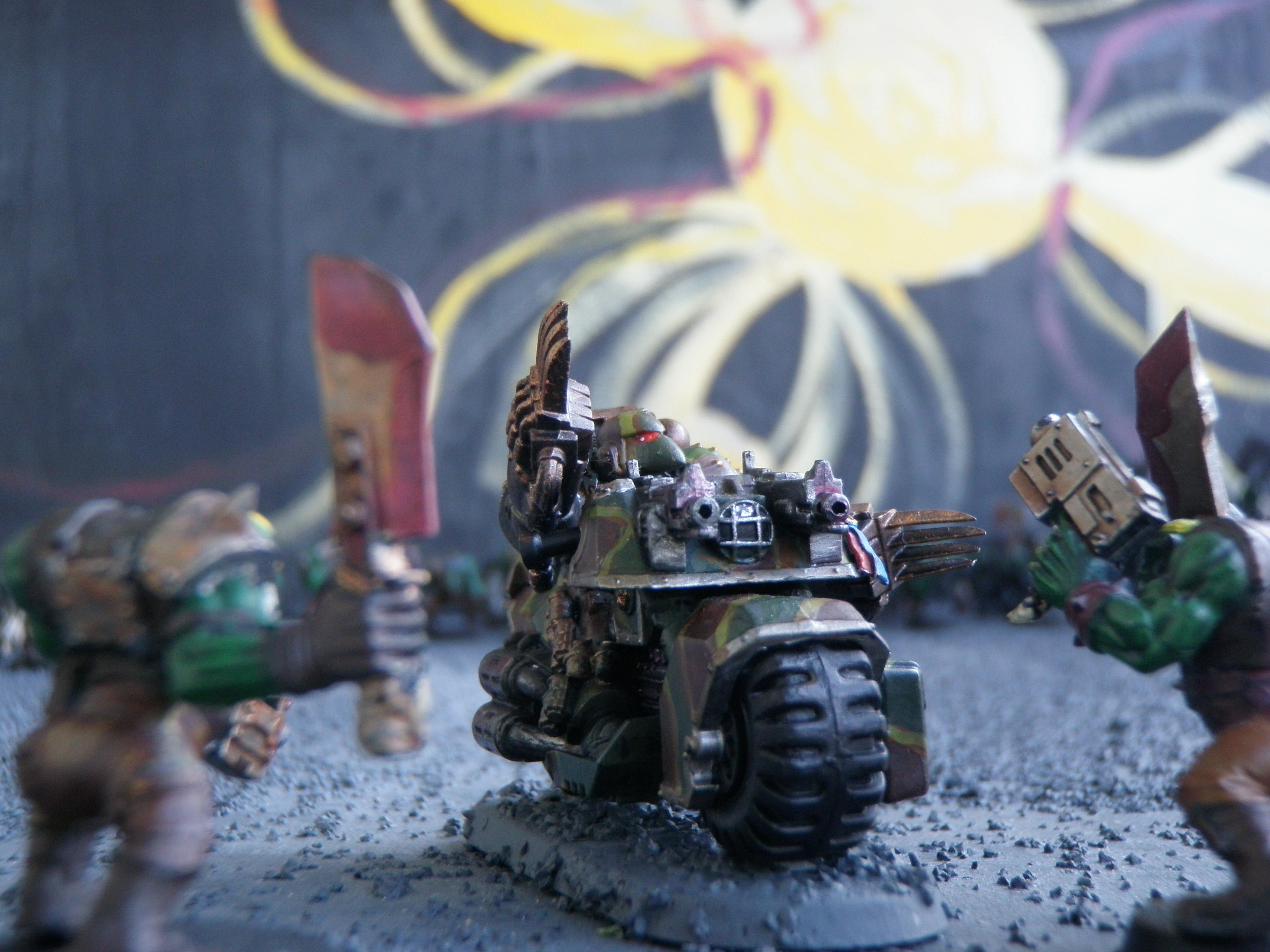 Bike, Camouflage, Command Squad, Lightning Claws, Pair, Space Marines, Veteran