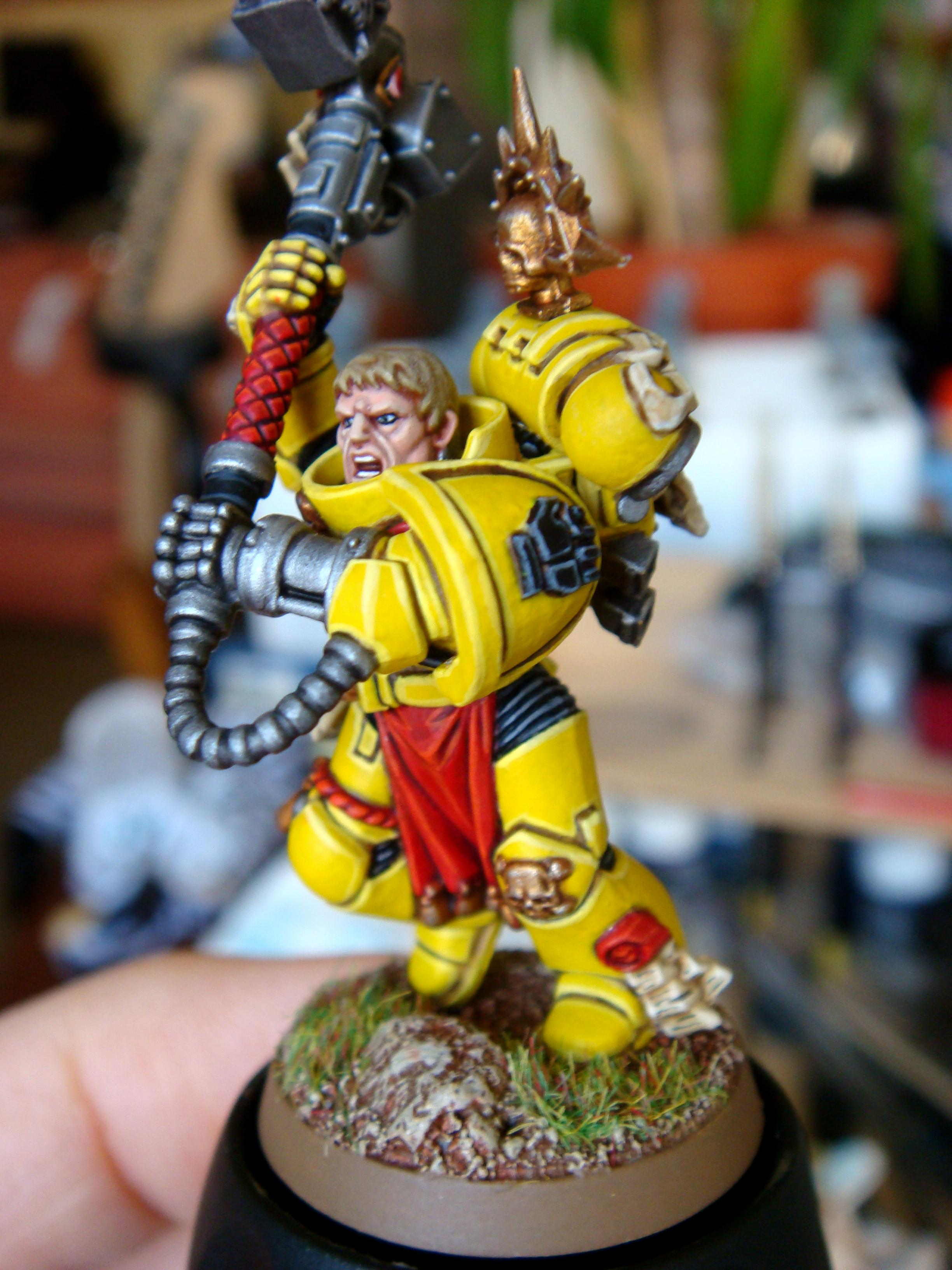 Chapter Champion, Imperial Fist Chapter Champion, Imperial Fists, Space Marines, Thunder Hammer