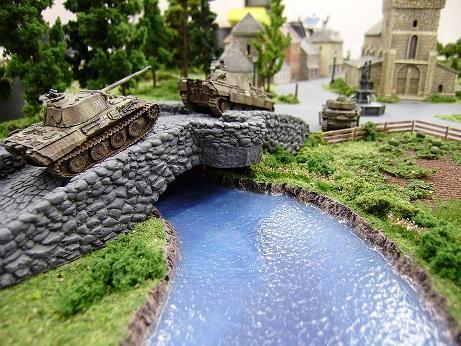 Bridge, Flames Of War, River, Tank