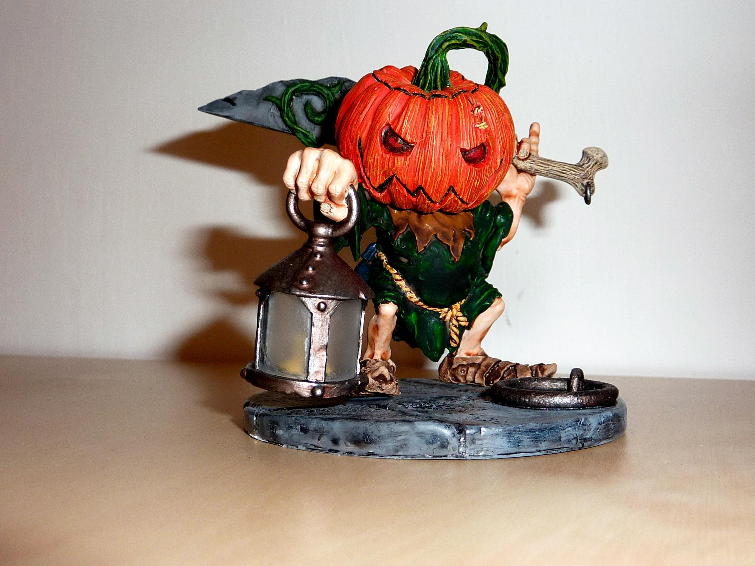 Halloween, Large Scale, Pumpkin Head, Rackham