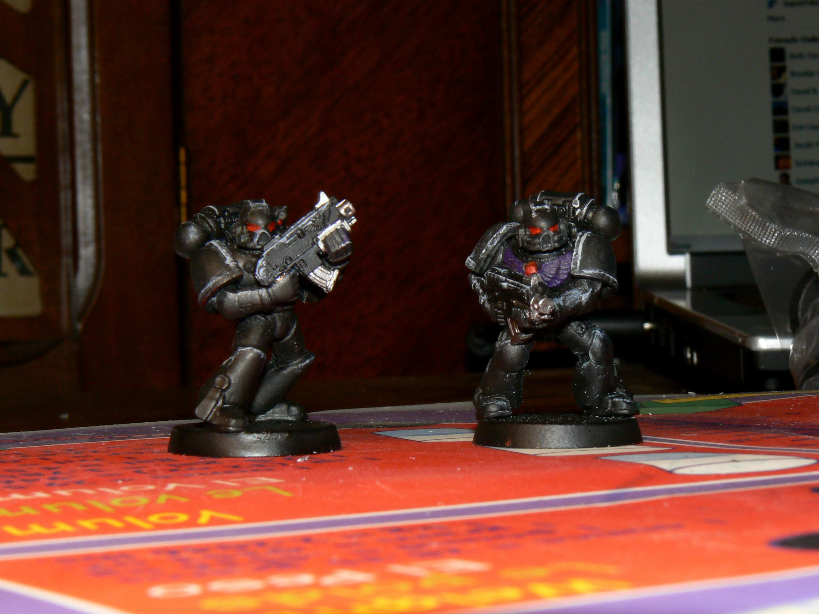 Assault, Black, Chainsword, Dark Angels, Jetpack, Jump, Space Marines, Squad, Successor Chapter