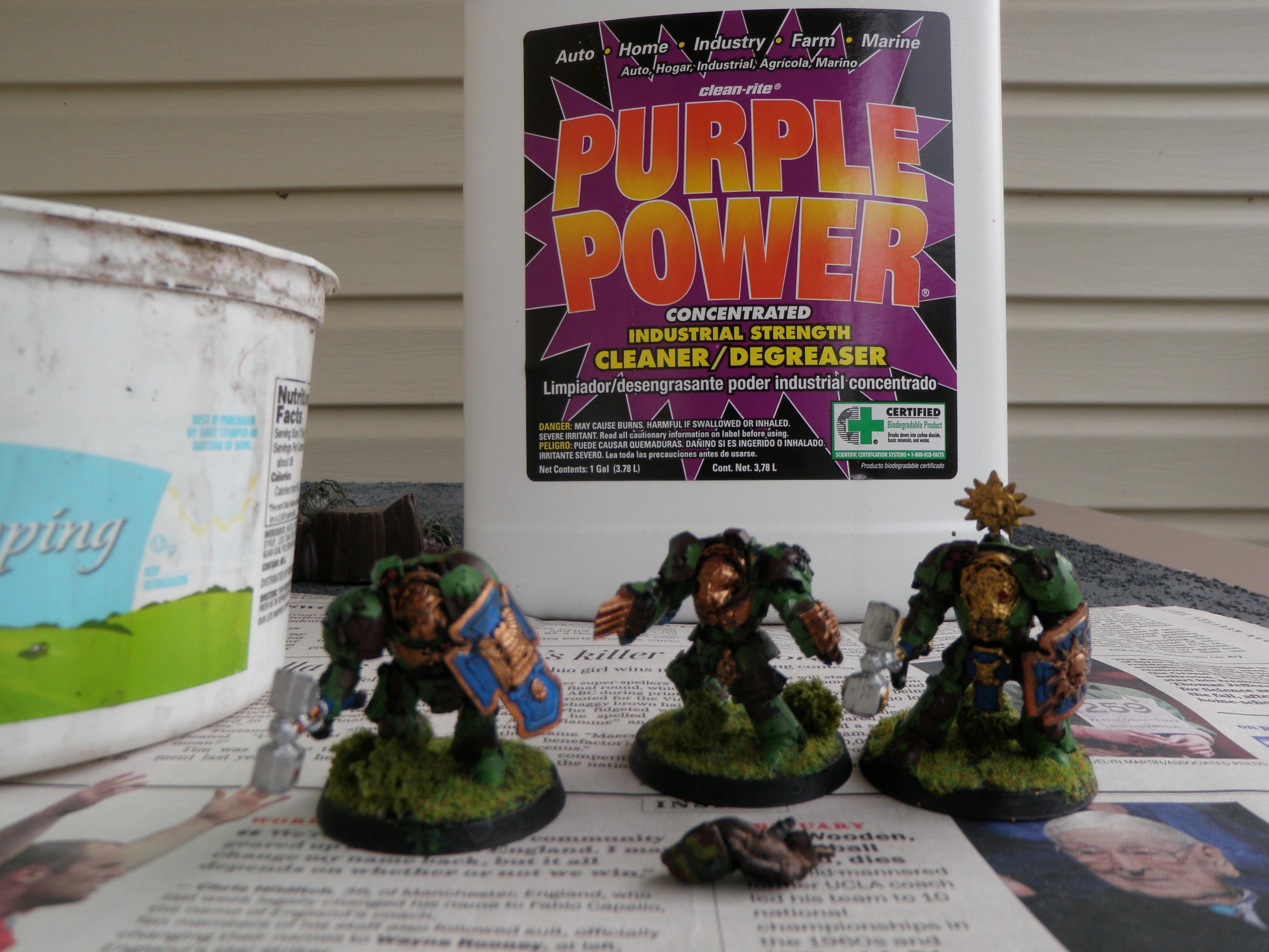 Purple Power, Strip, Stripping, Terminator Armor