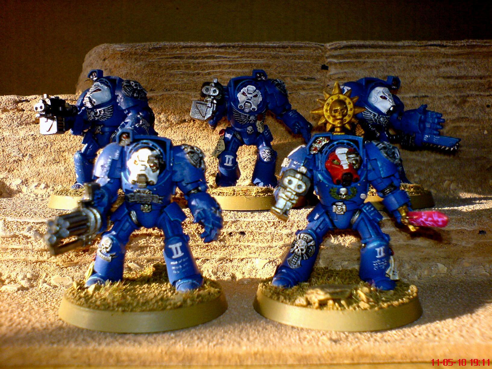 Space Marines, Terminator Armor, Terminator Squad, Ultramarines