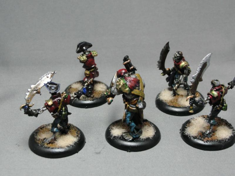Warmachine, Cryx, Revenant Crew of the Atramentous