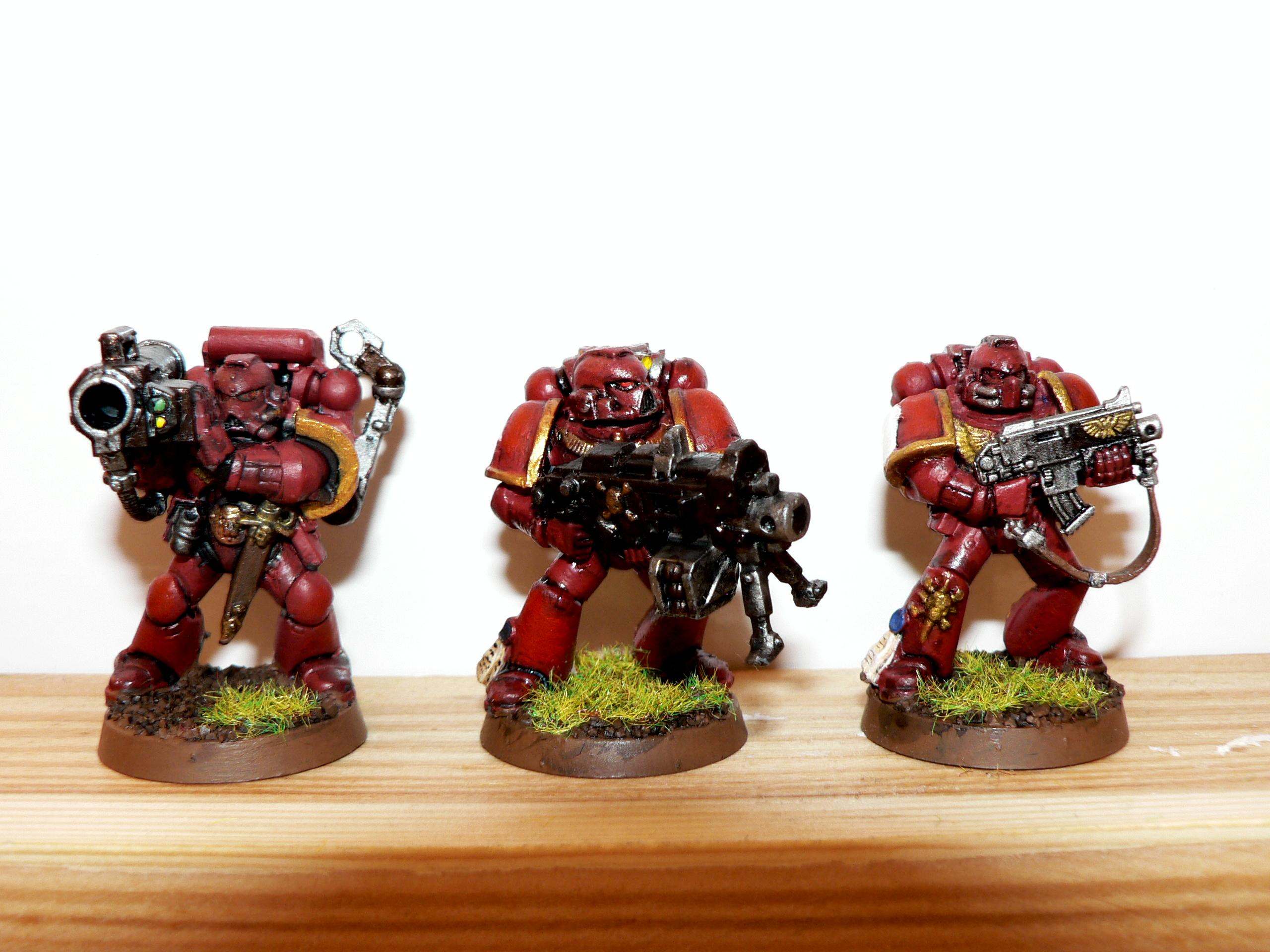 Assault On Black Reach, Genesis Chapter, Heavy Bolter, Missile Launcher, Space Marines, Tactical Squad