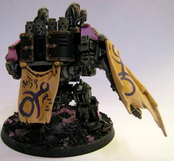 Banner, Chaos Dreadnought, Chaos Space Marines, Custom Base, Dreadnought, Slaanesh, Warhammer 40,000
