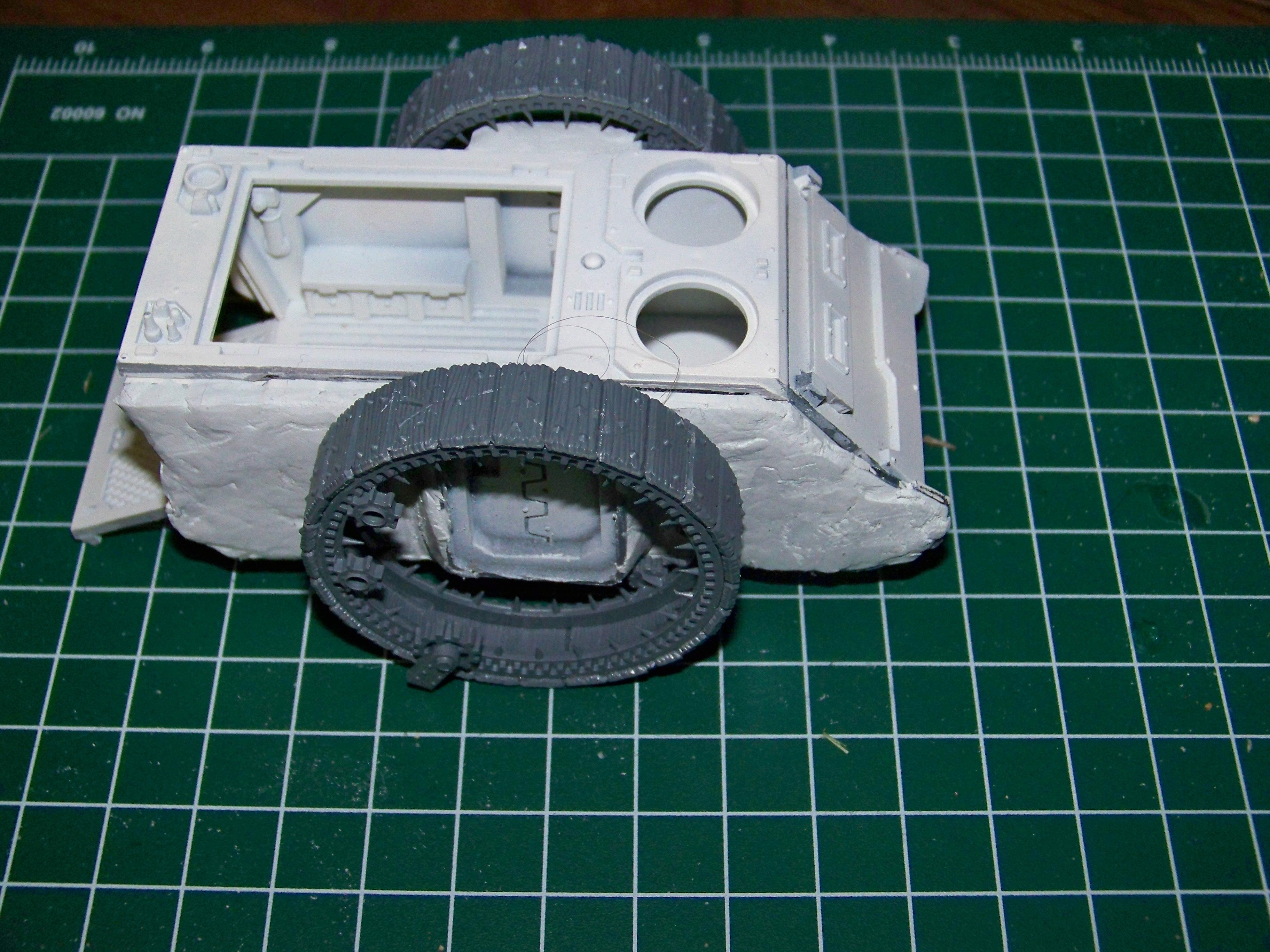 Wheel test fitting side view